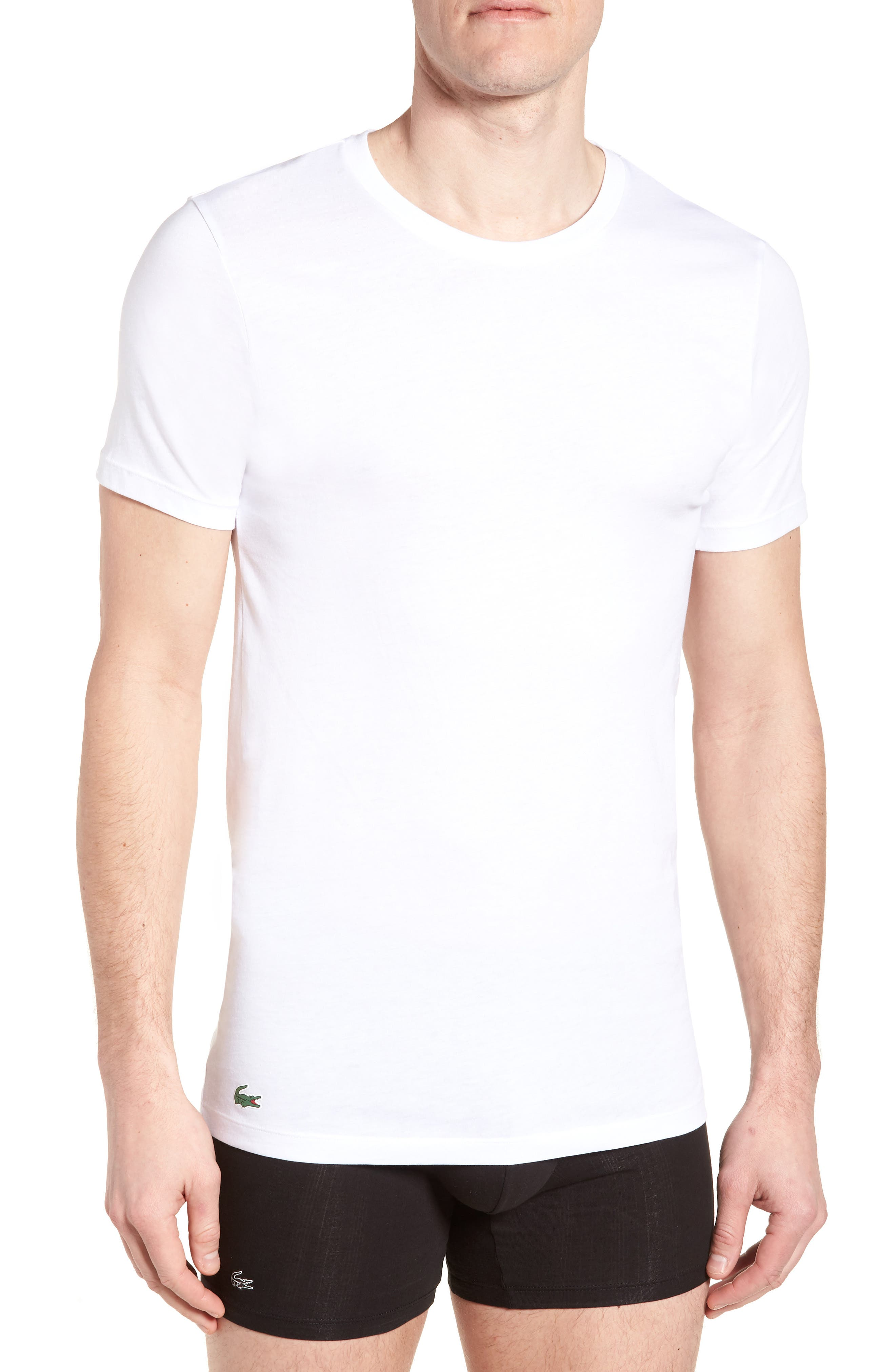 3-Pack Slim Fit Crewneck T-Shirts,                         Main,                         color, White
