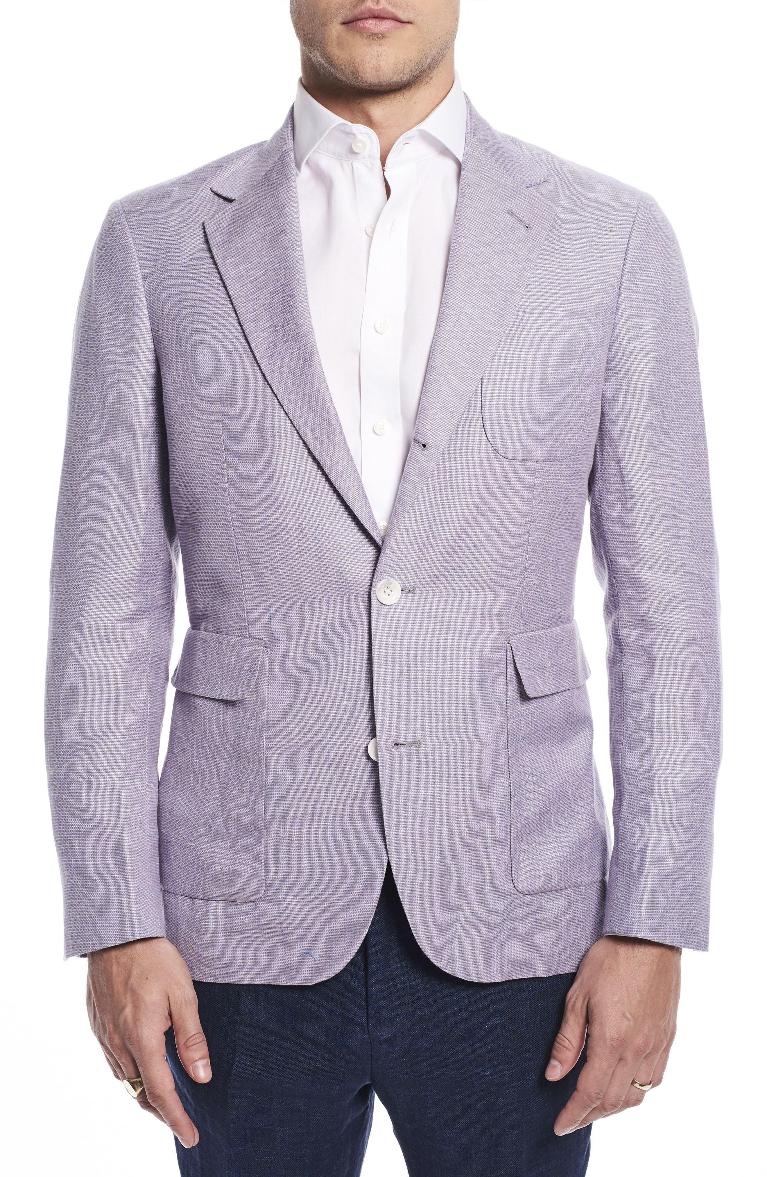 Strong Suit by Ilaria Urbinati Ignatius Slim Fit Linen & Wool Blazer (Nordstrom Exclusive)