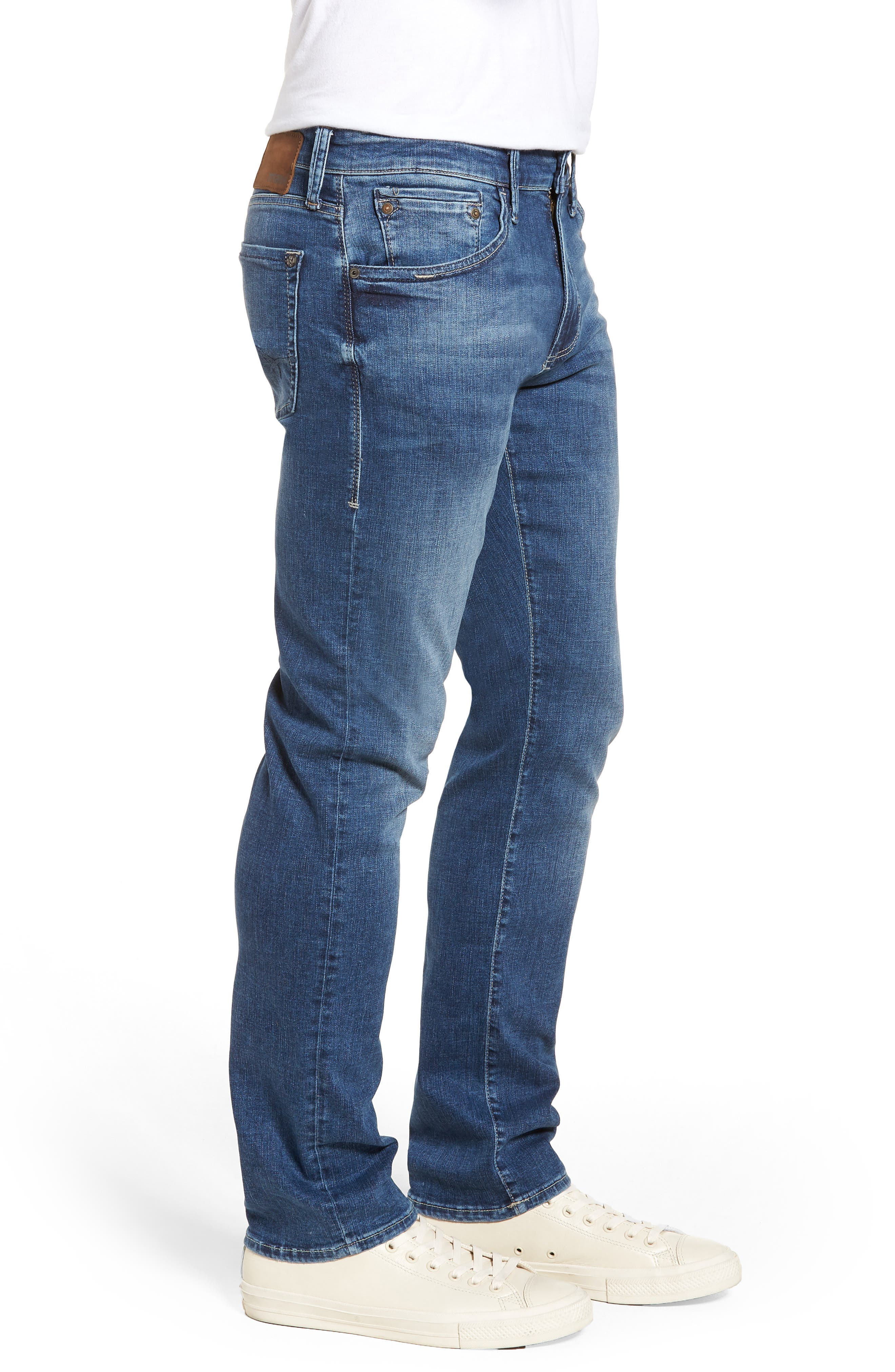 Zach Straight Leg Jeans,                             Alternate thumbnail 3, color,                             Indigo Cashmere