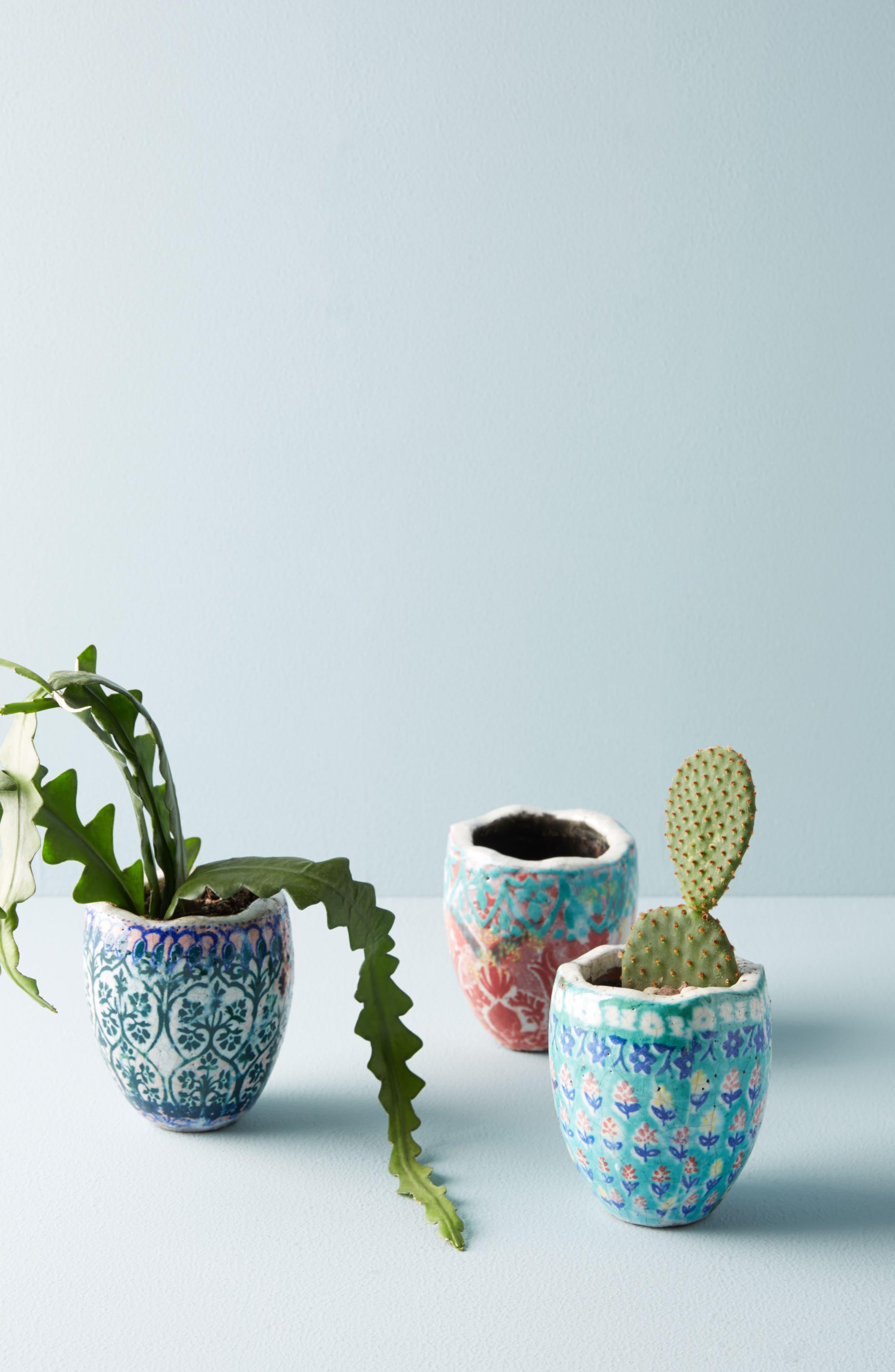 Bismark Mini Garden Pot,                             Alternate thumbnail 2, color,                             Peach