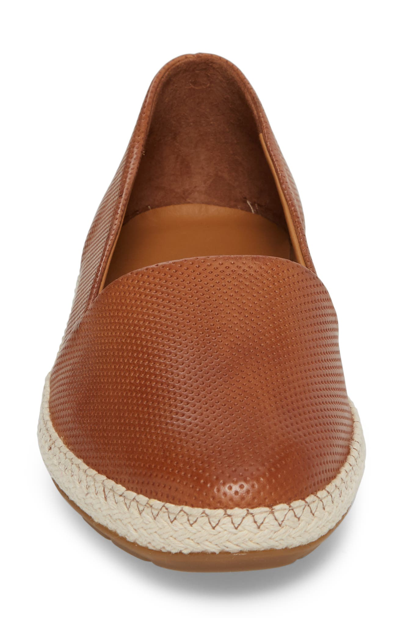 Roxy Espadrille,                             Alternate thumbnail 4, color,                             Cuoio Leather