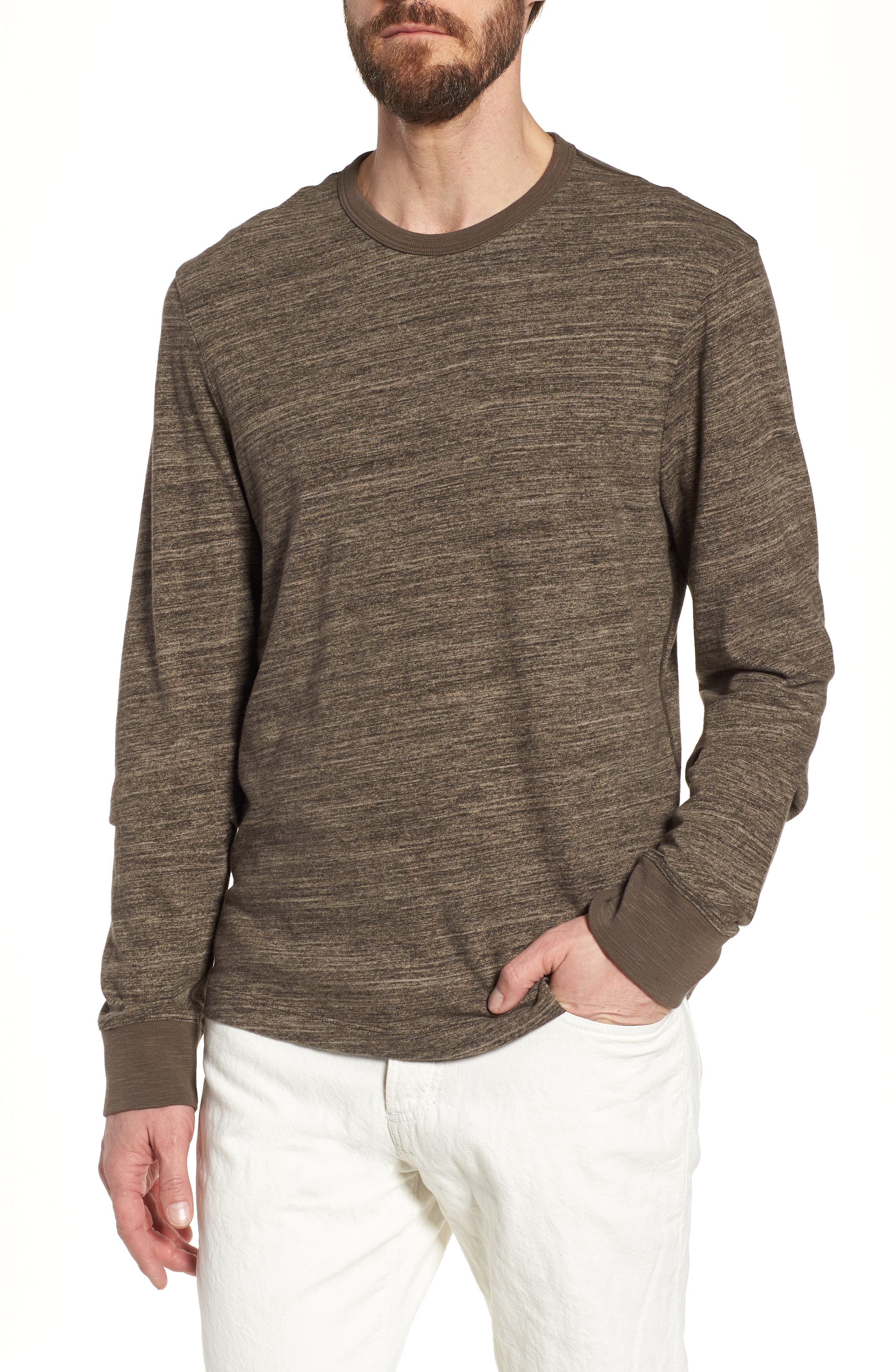 Brown crew-neck t-shirt James Perse Explore Sale Online Clean And Classic 2018 New Online TnPwFZY