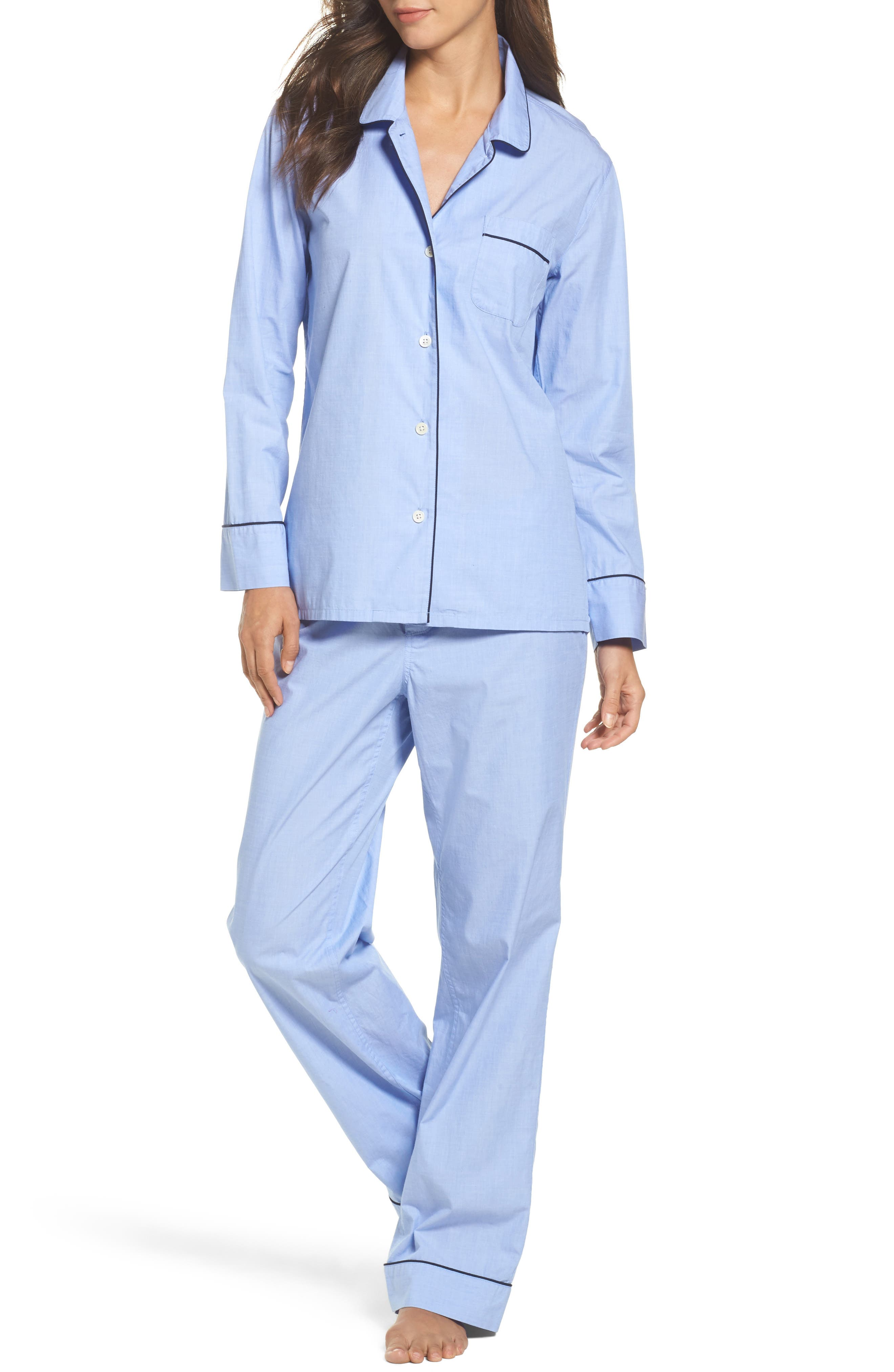 J.Crew Vintage Cotton Pajamas,                         Main,                         color, Hydrangea