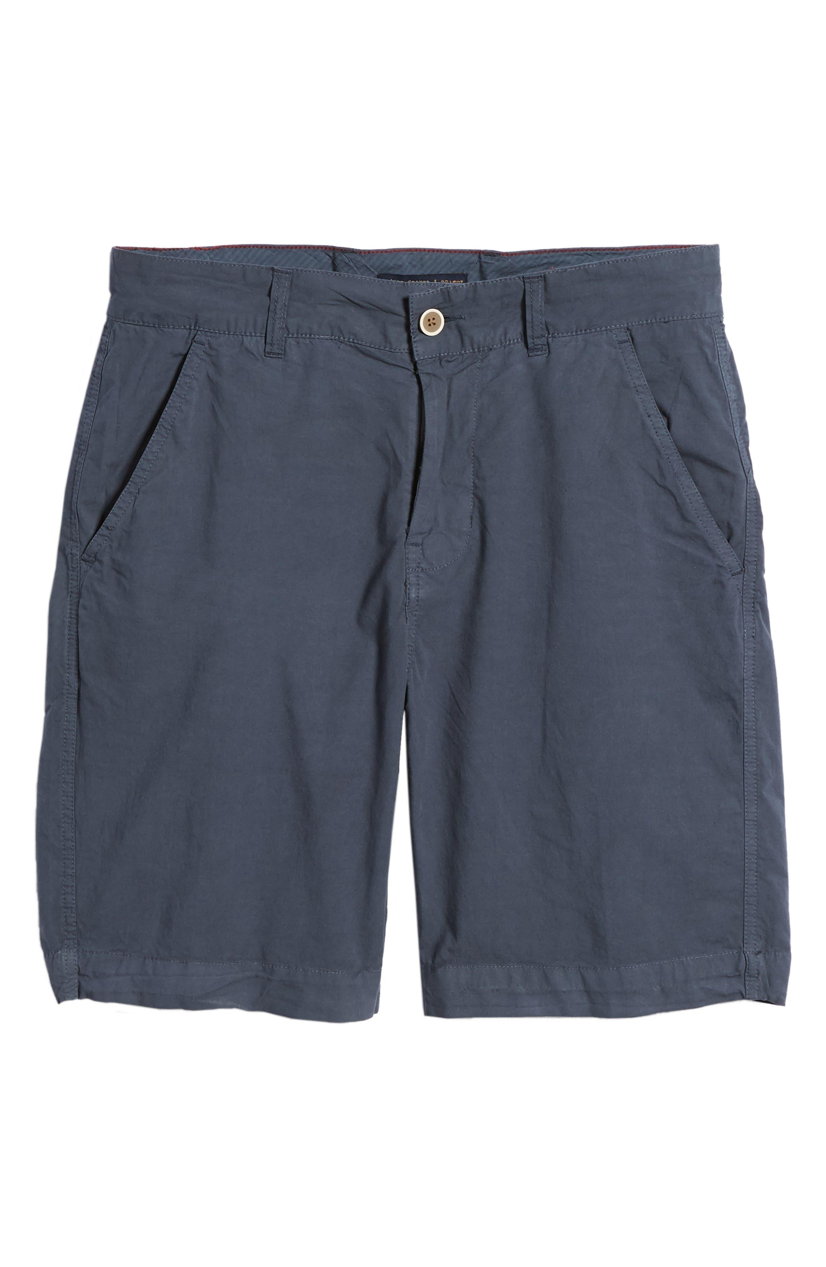 Stretch Poplin Shorts,                             Alternate thumbnail 6, color,                             Navy