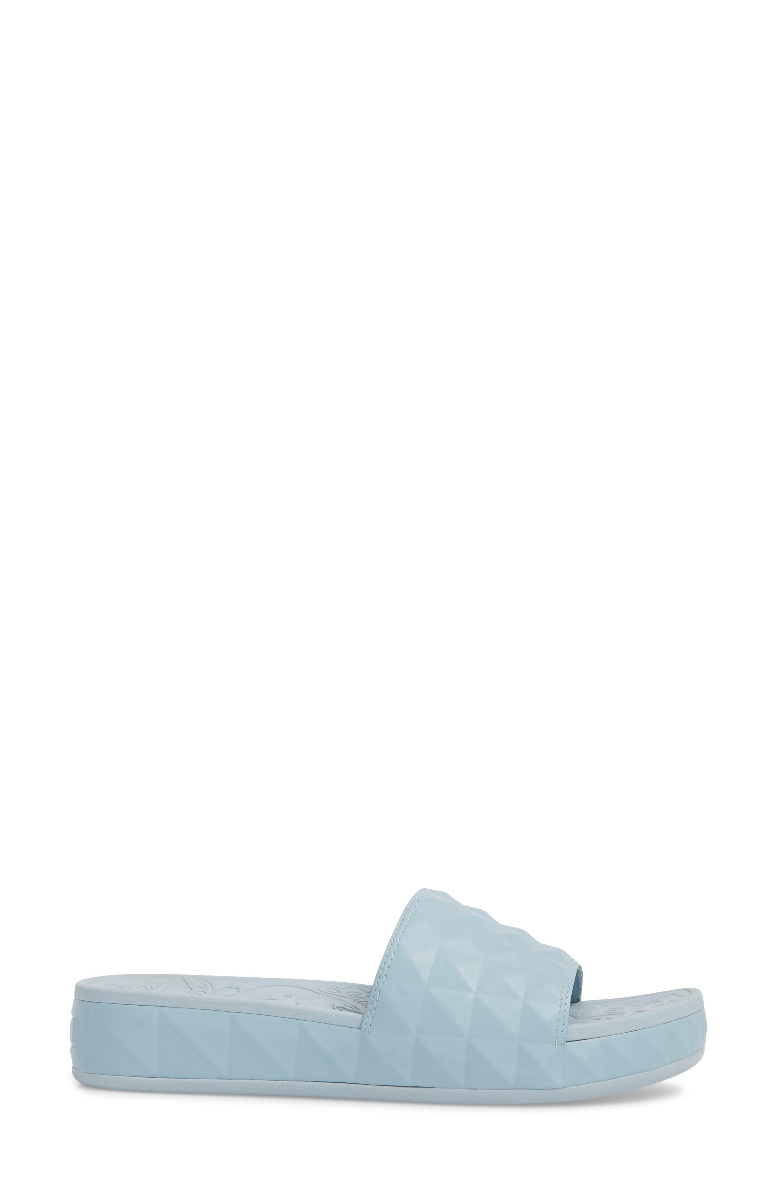 Splash Geo Slide Sandal,                             Alternate thumbnail 3, color,                             Ice Blue