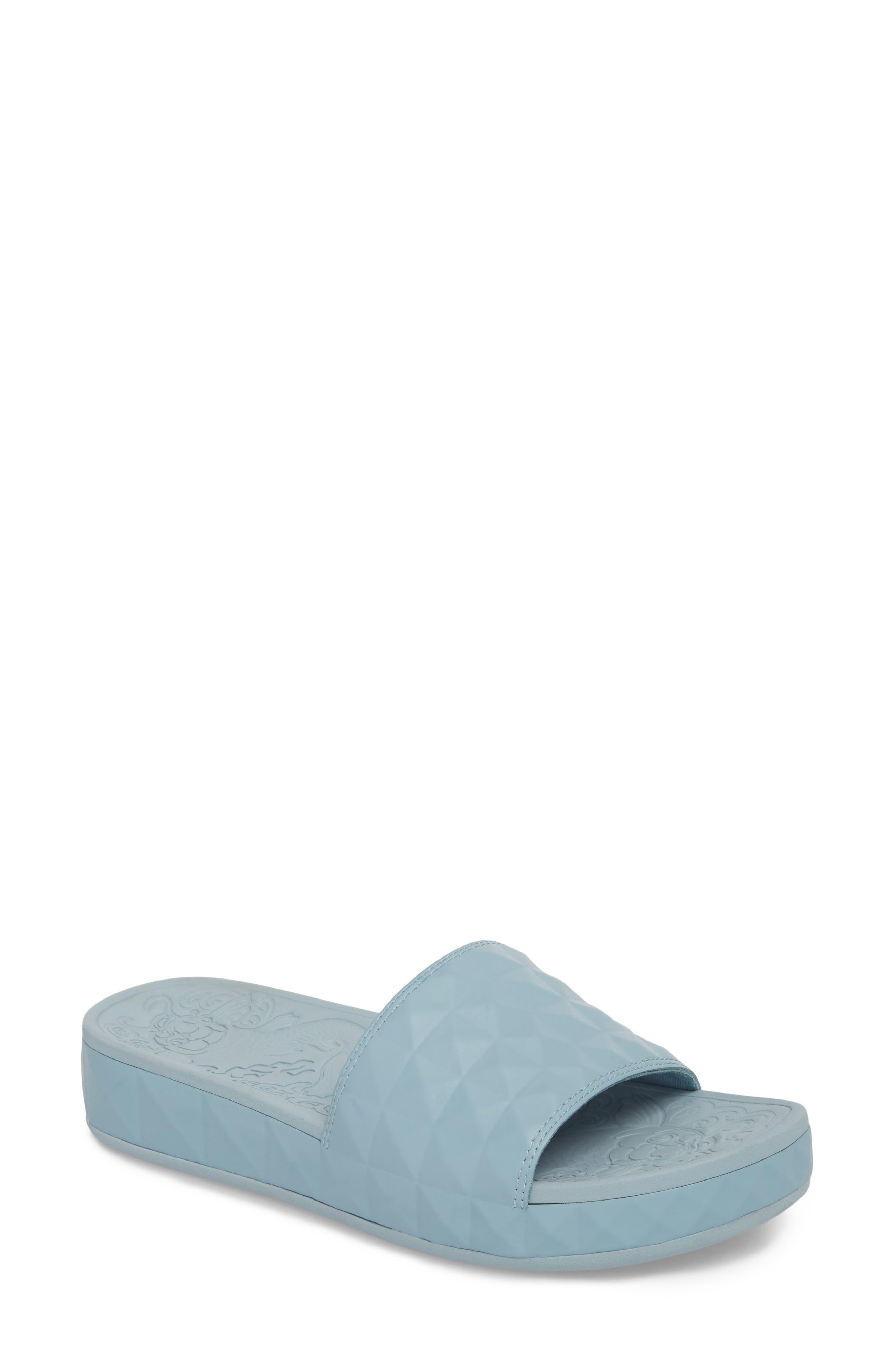 Splash Geo Slide Sandal,                             Main thumbnail 1, color,                             Ice Blue