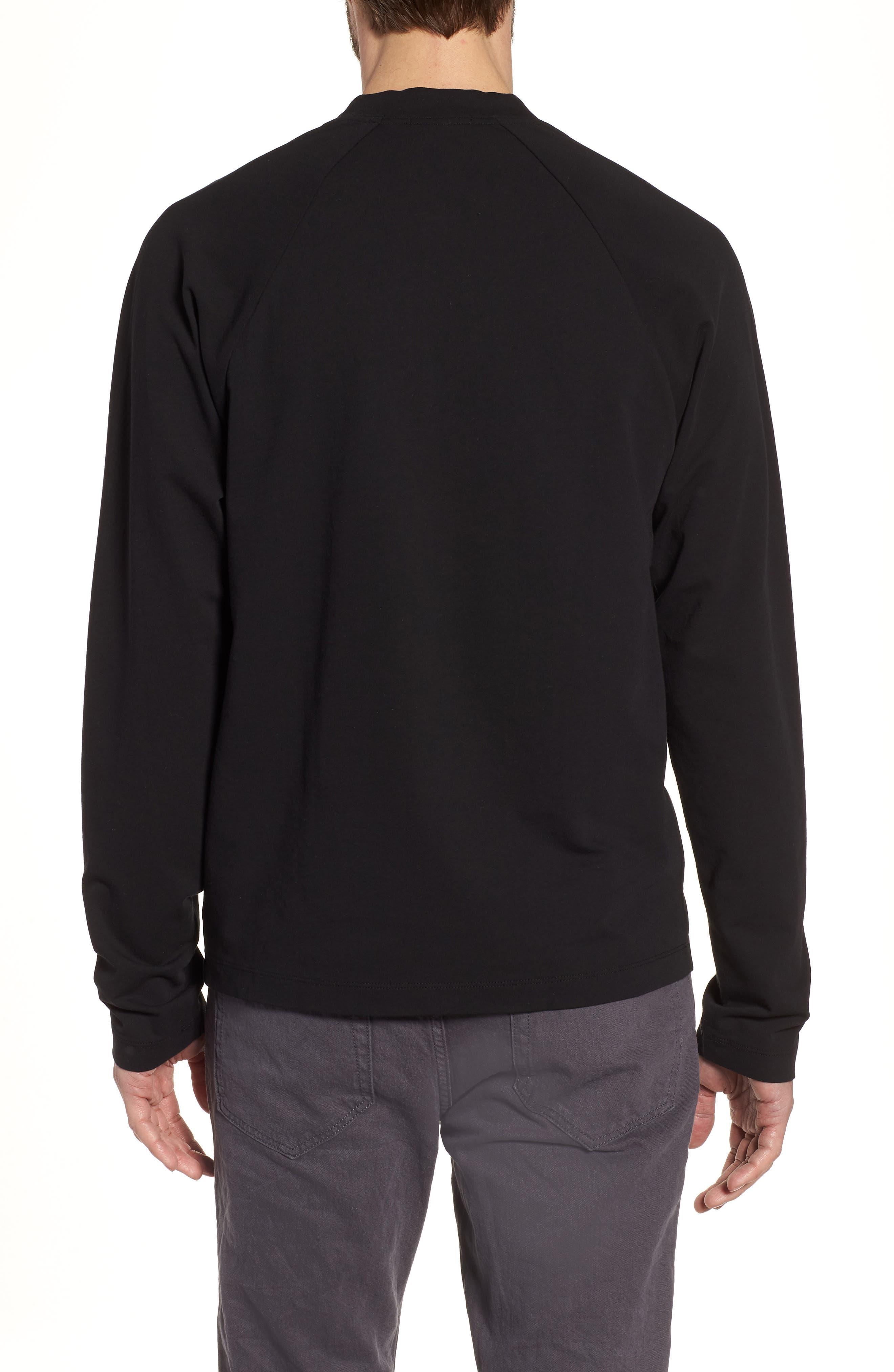 Alternate Image 2  - James Perse Regular Fit Half Zip Baseball Pullover