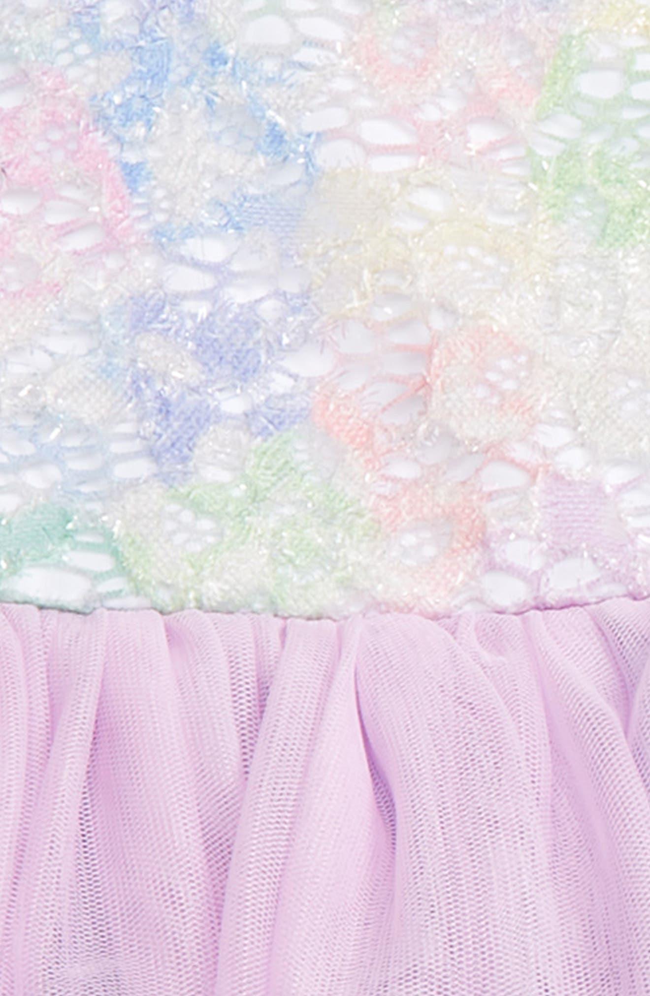 Alternate Image 2  - Pippa & Julie Rainbow Tutu Dress (Baby Girls)