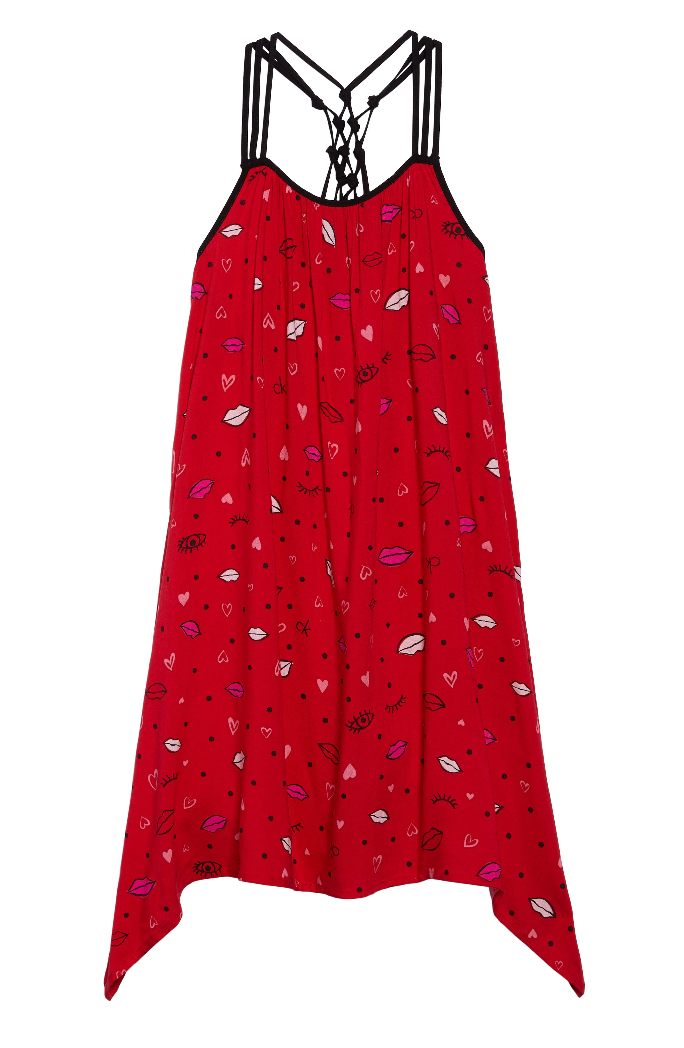 Knotted Back Dress,                             Main thumbnail 1, color,                             Red