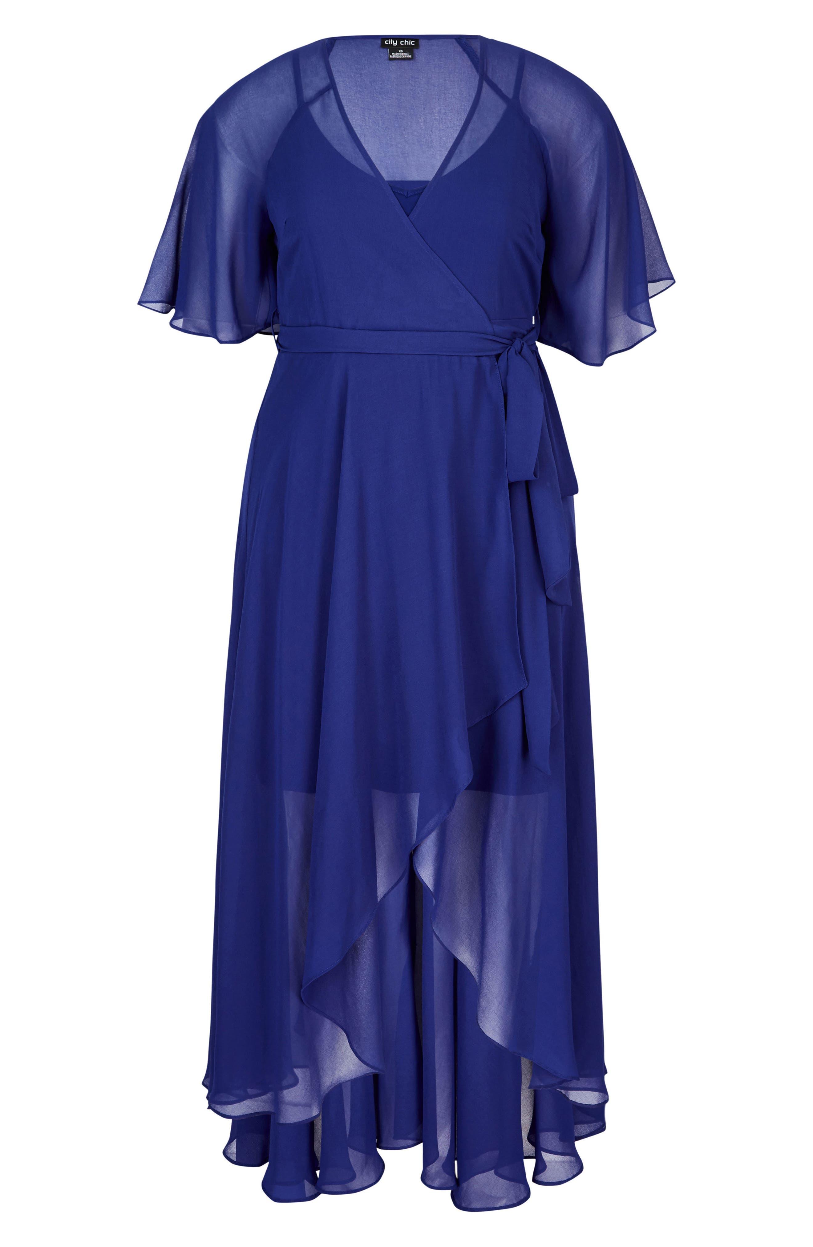 Enthrall Me High/Low Dress,                             Alternate thumbnail 3, color,                             Lapis