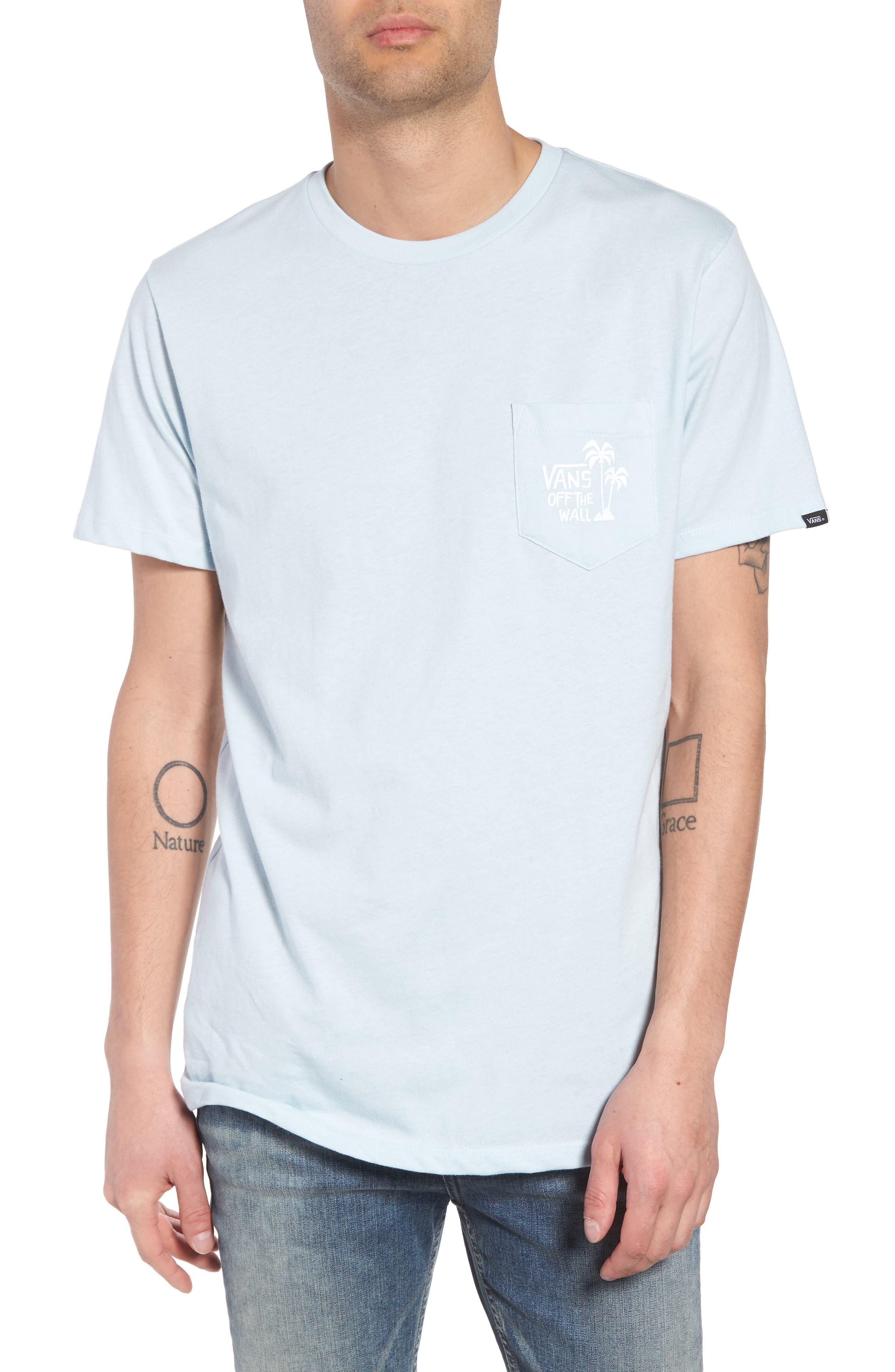 Yusuke Palms Graphic T-Shirt,                             Main thumbnail 1, color,                             Baby Blue