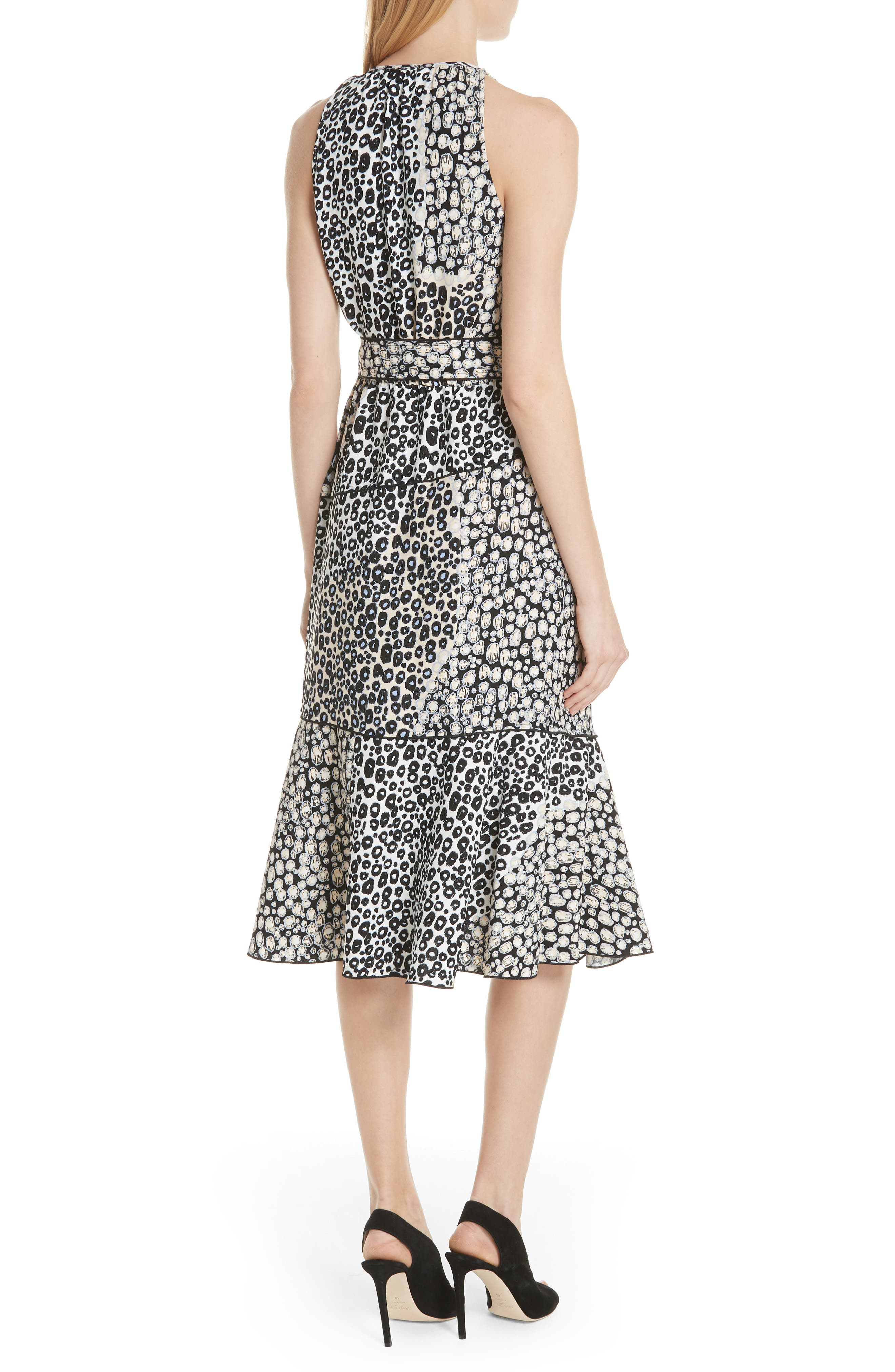 Asymmetrical Faux Wrap Dress,                             Alternate thumbnail 2, color,                             Sandstone