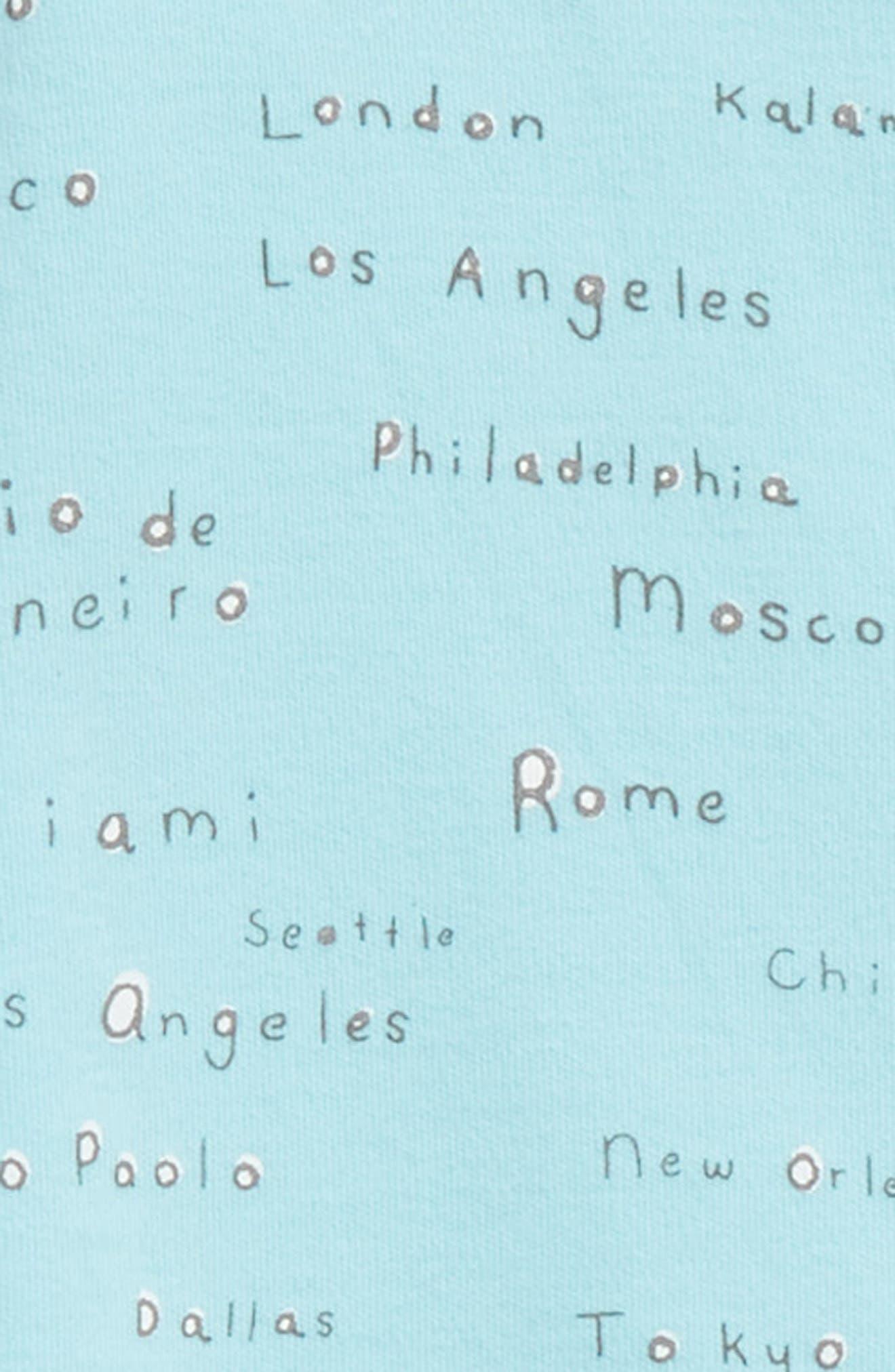 City Names Organic Cotton Footie,                             Alternate thumbnail 2, color,                             City Names