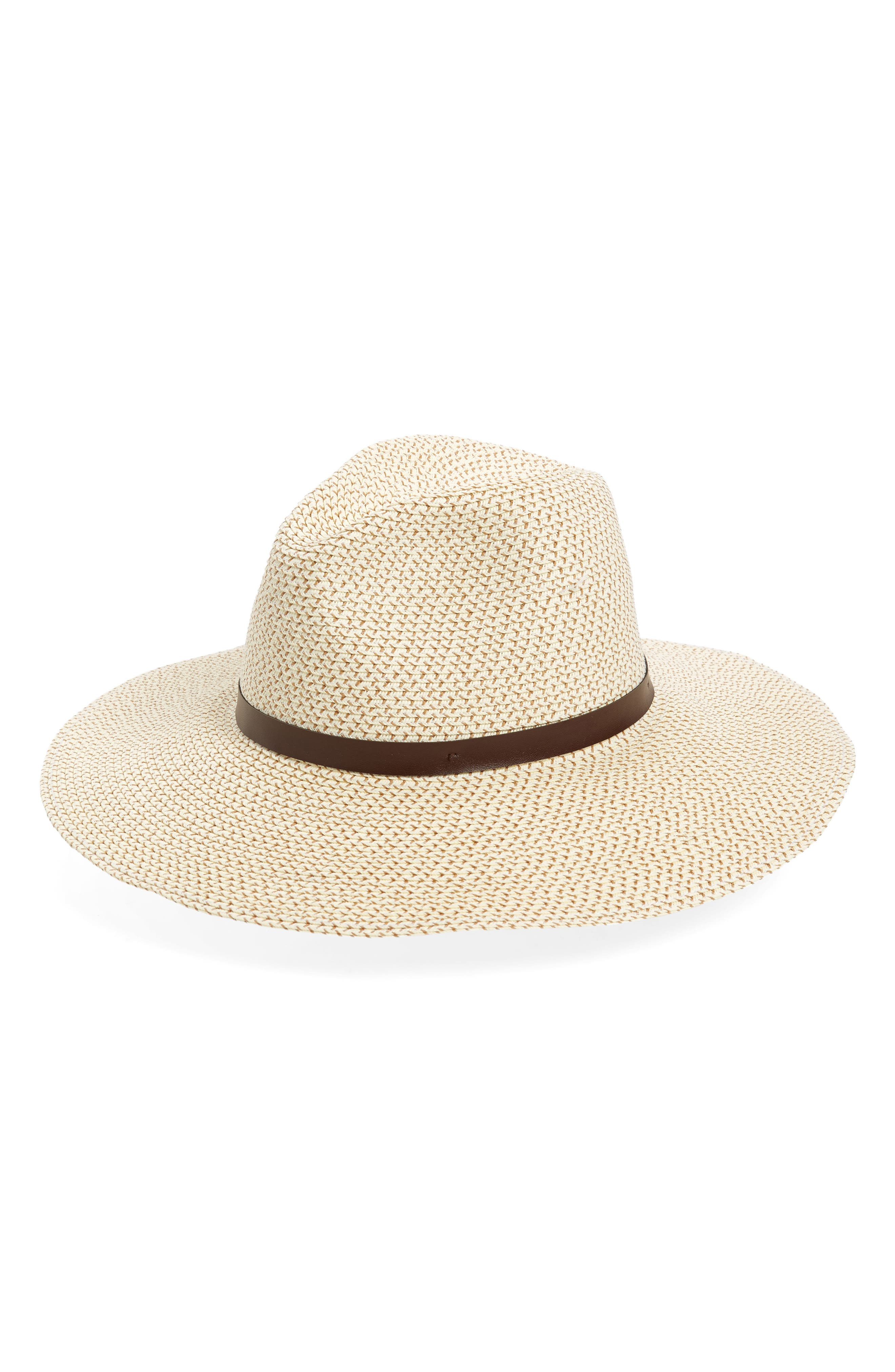 Band Straw Hat,                         Main,                         color, Ivory