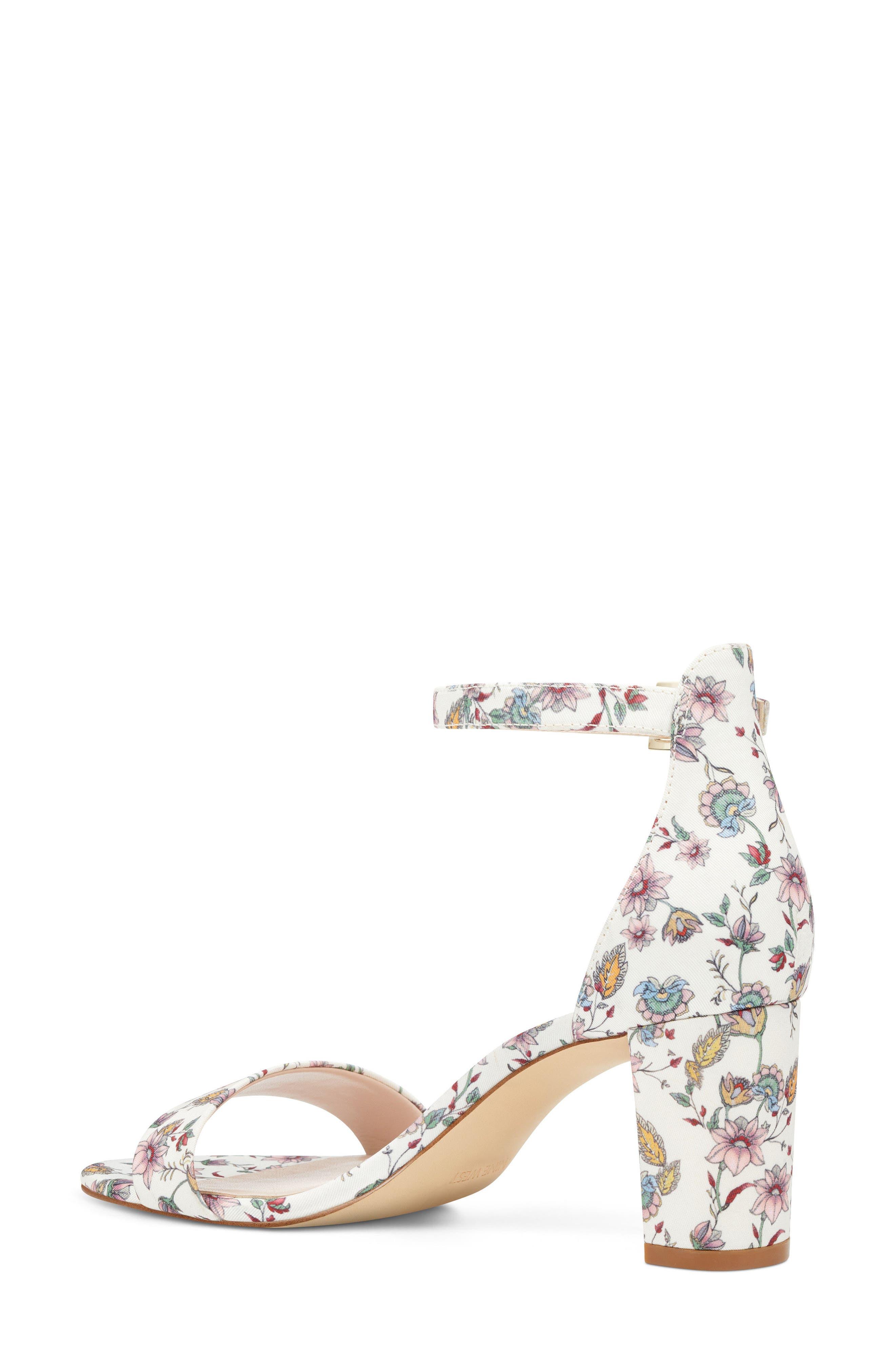Pruce Ankle Strap Sandal,                             Alternate thumbnail 2, color,                             White Multi