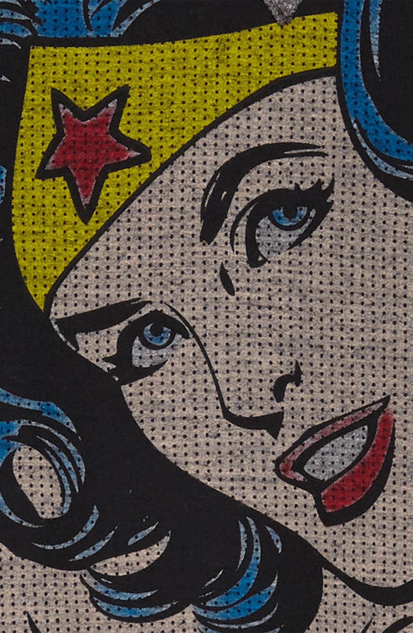 Little ELEVENPARIS Woom Wonder Woman Dress,                             Alternate thumbnail 3, color,                             Grey