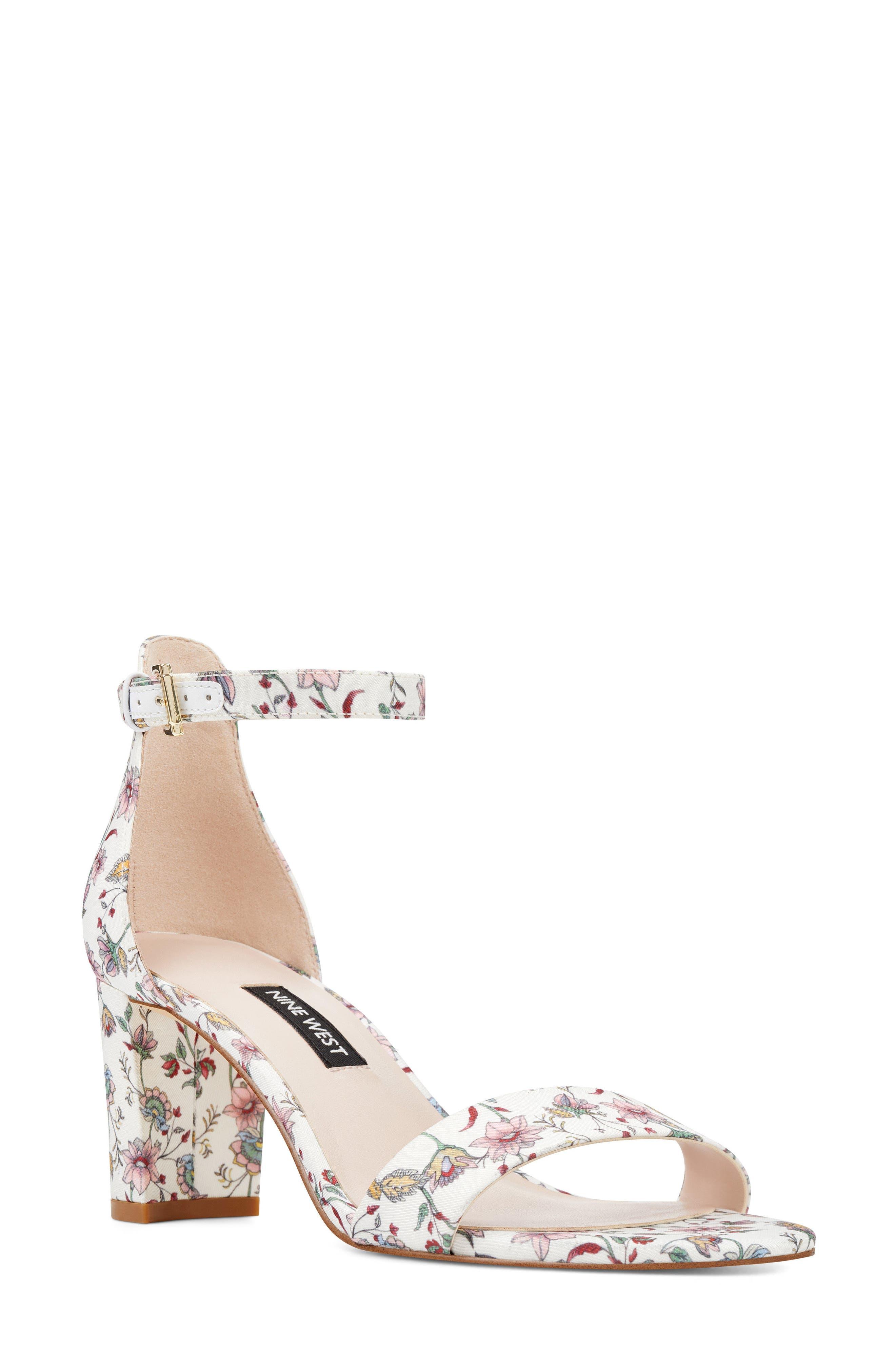 Pruce Ankle Strap Sandal,                             Main thumbnail 1, color,                             White Multi