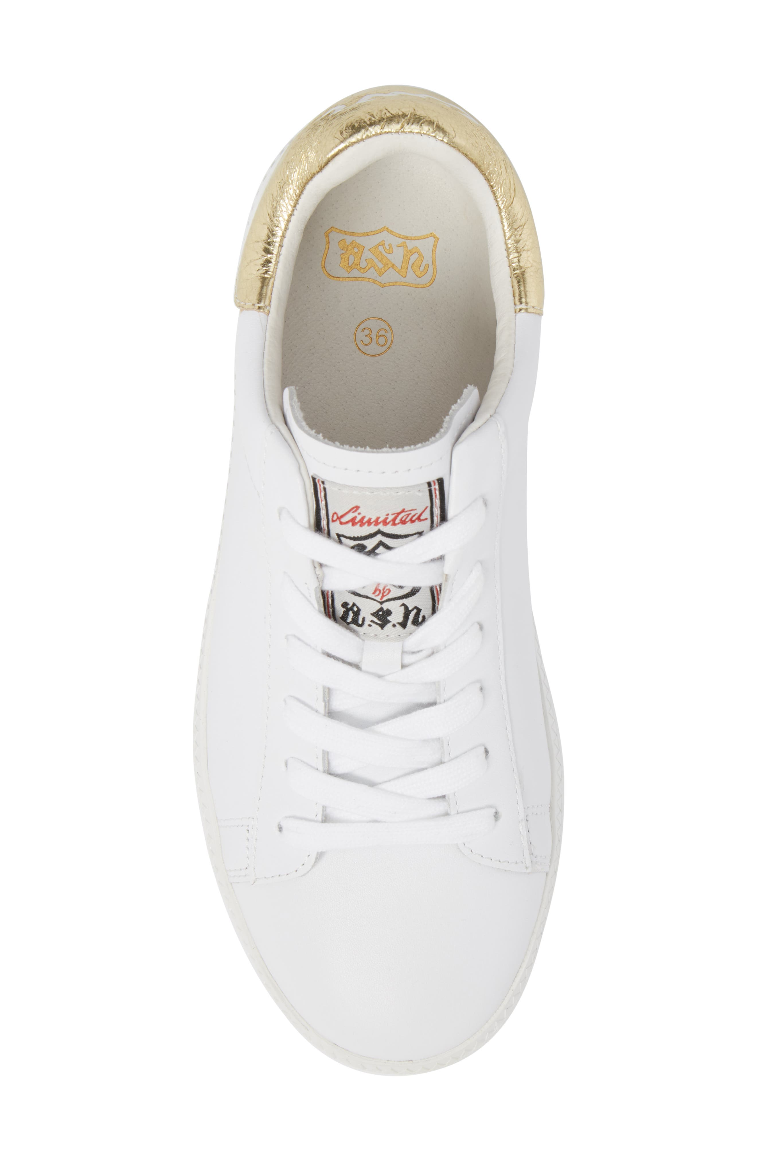 Cult Platform Sneaker,                             Alternate thumbnail 5, color,                             White/ Ariel
