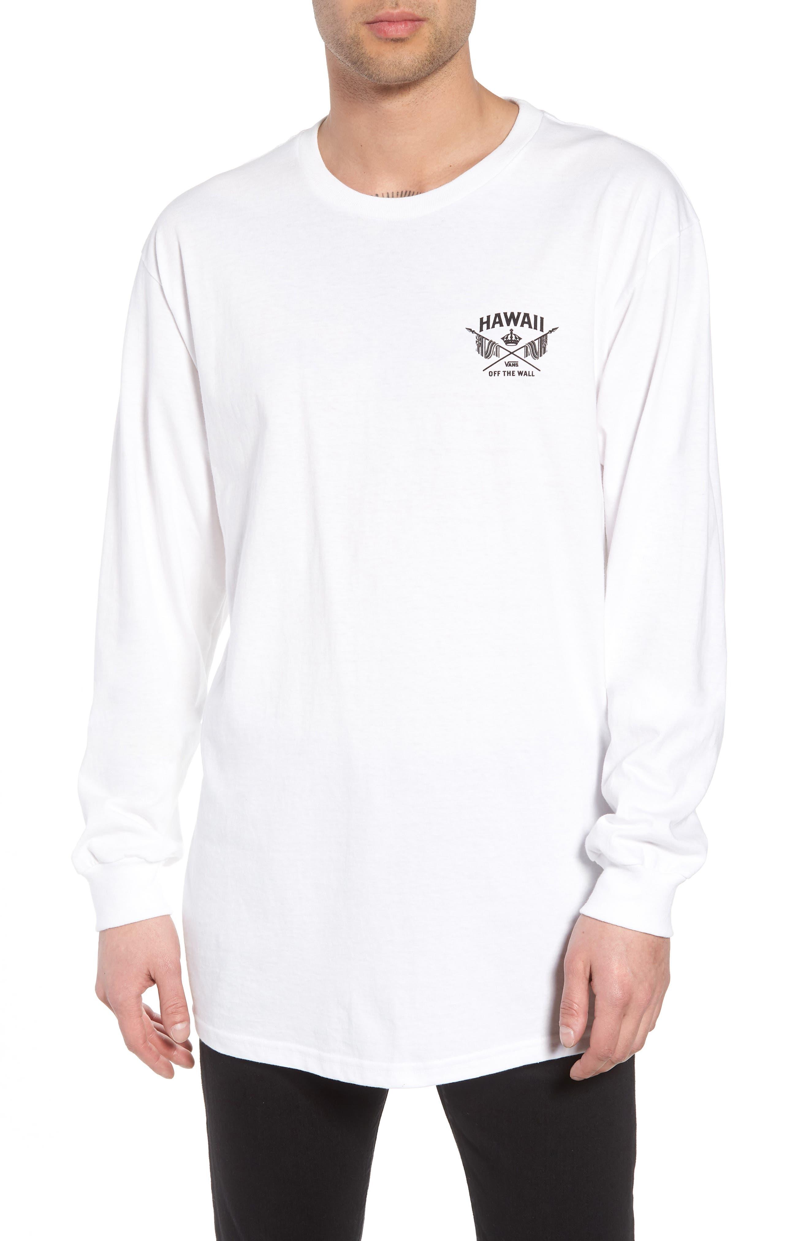 Hawaii Crown Graphic T-Shirt,                             Main thumbnail 1, color,                             White