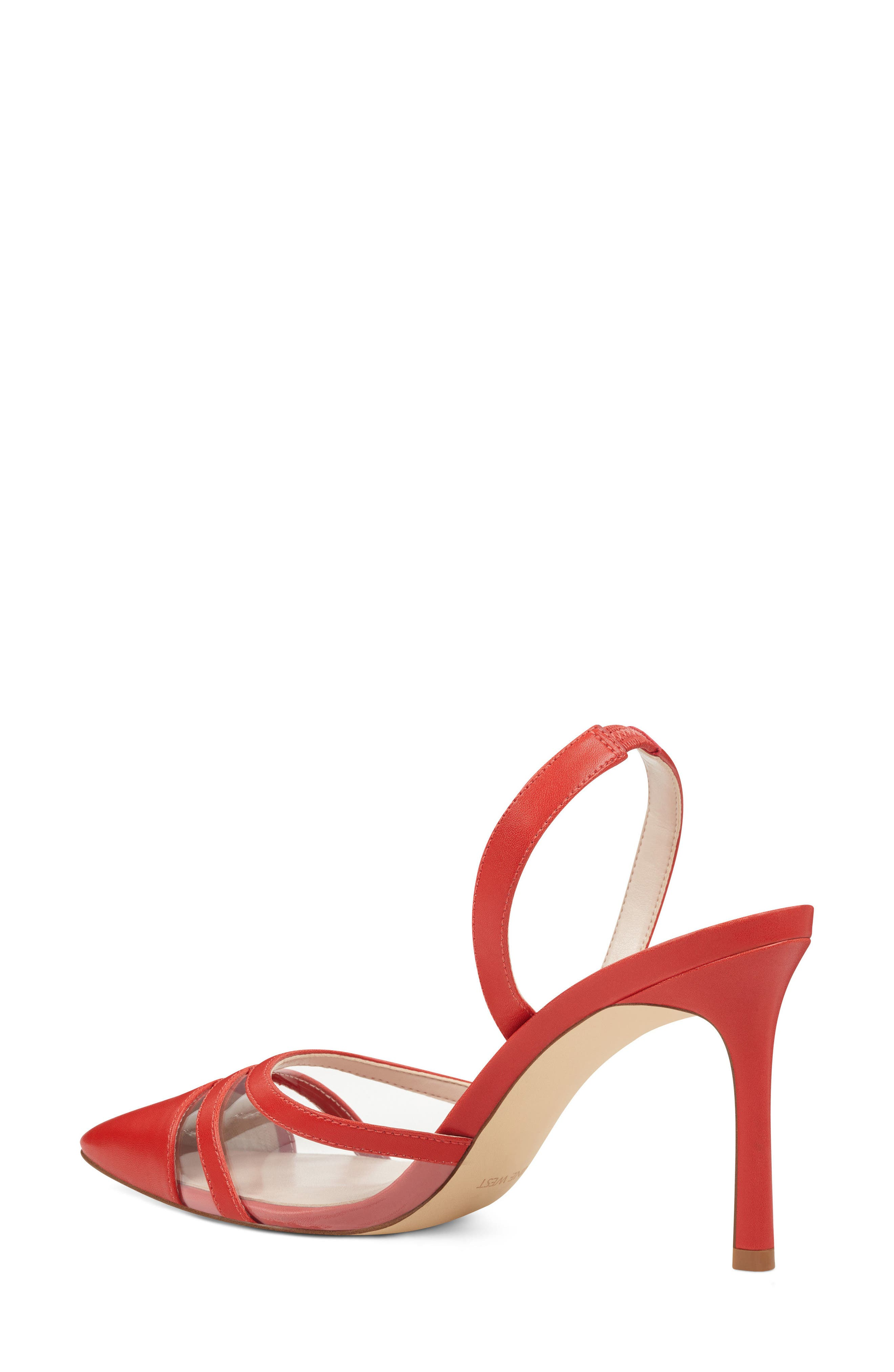 Exemplify Slingback Pump,                             Alternate thumbnail 2, color,                             Red Faux Leather