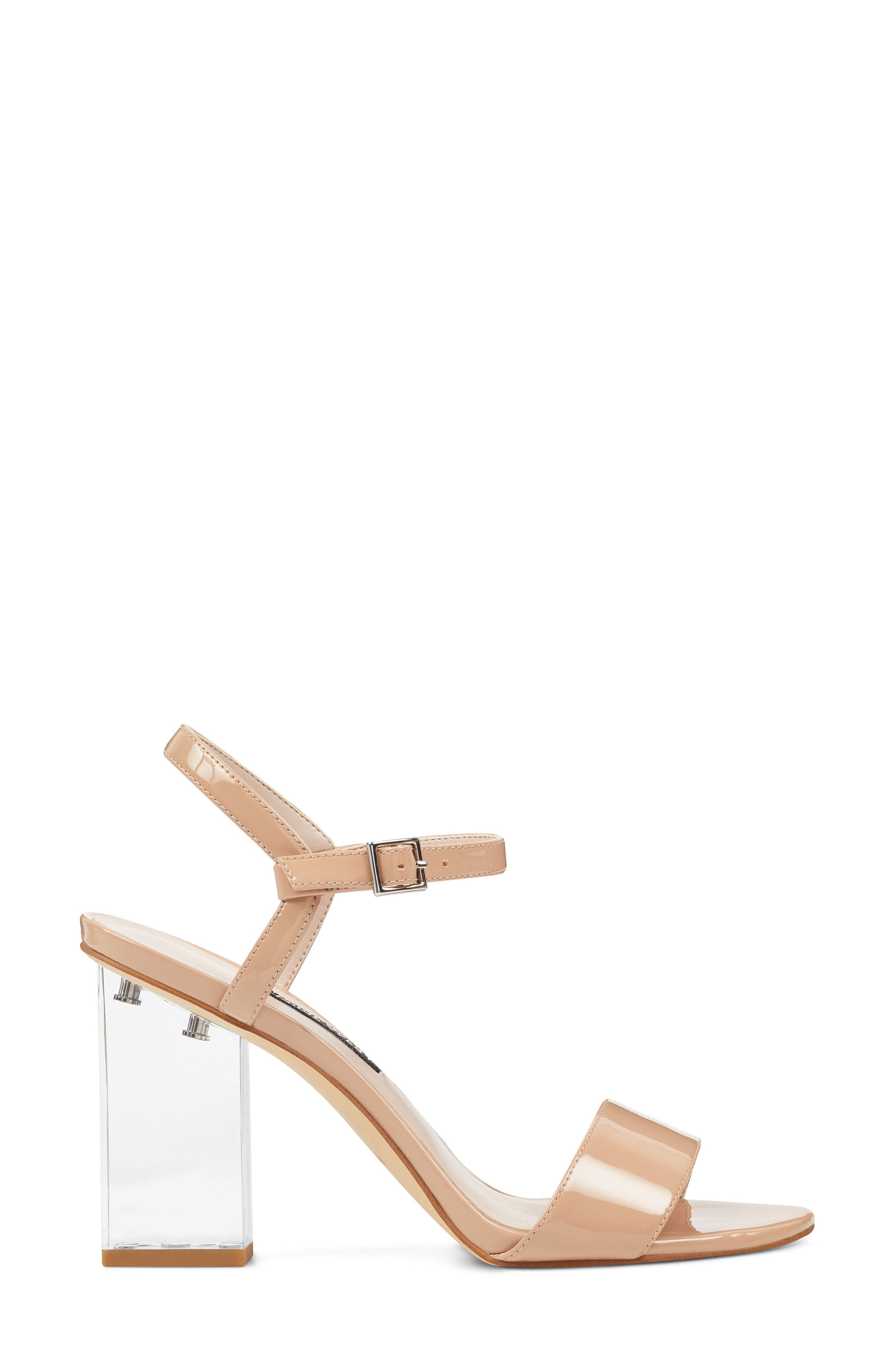 Feisty Ankle Strap Sandal,                             Alternate thumbnail 3, color,                             Nude Suede