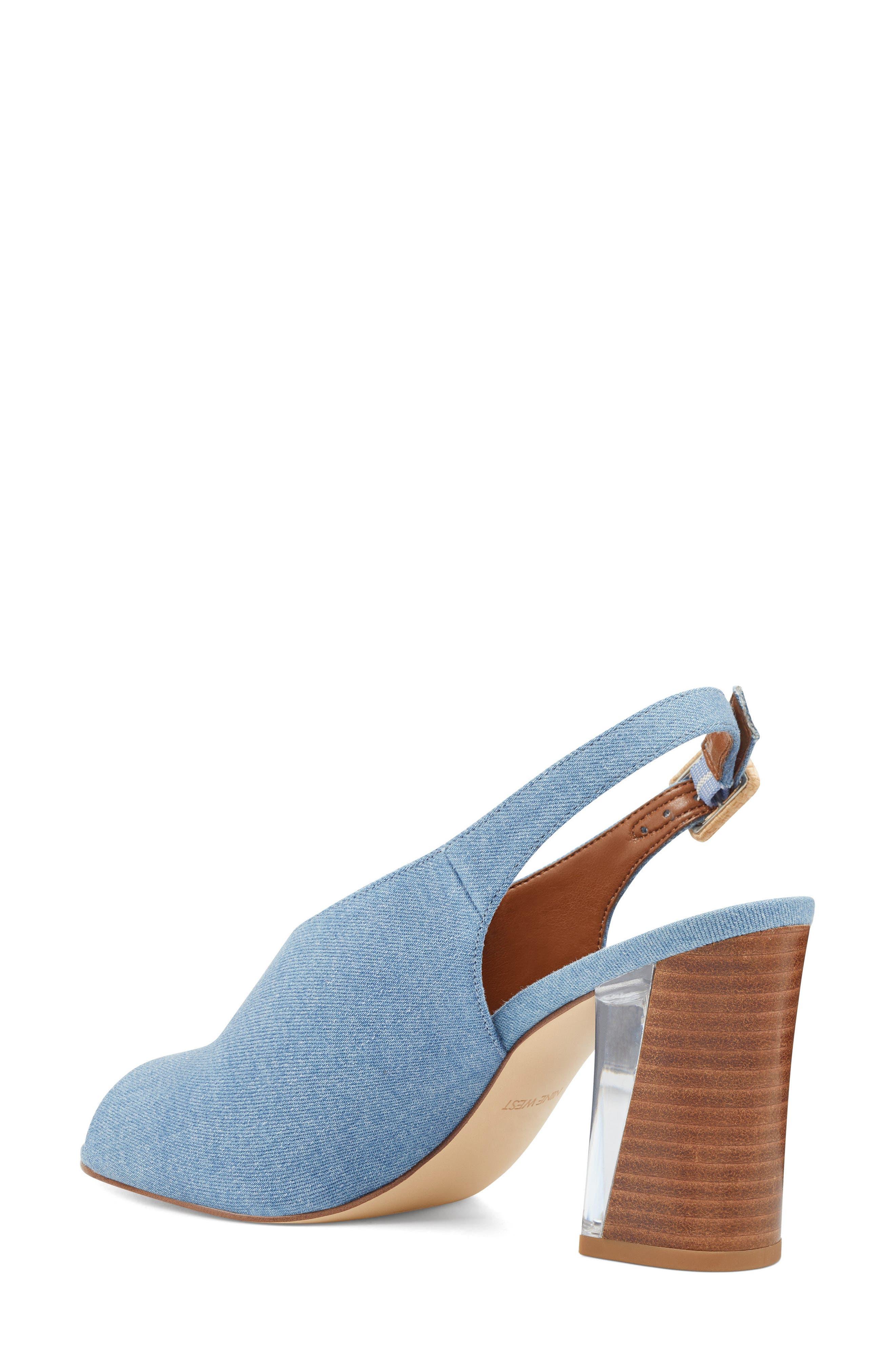 Morenzo Slingback Sandal,                             Alternate thumbnail 2, color,                             Light Blue Fabric