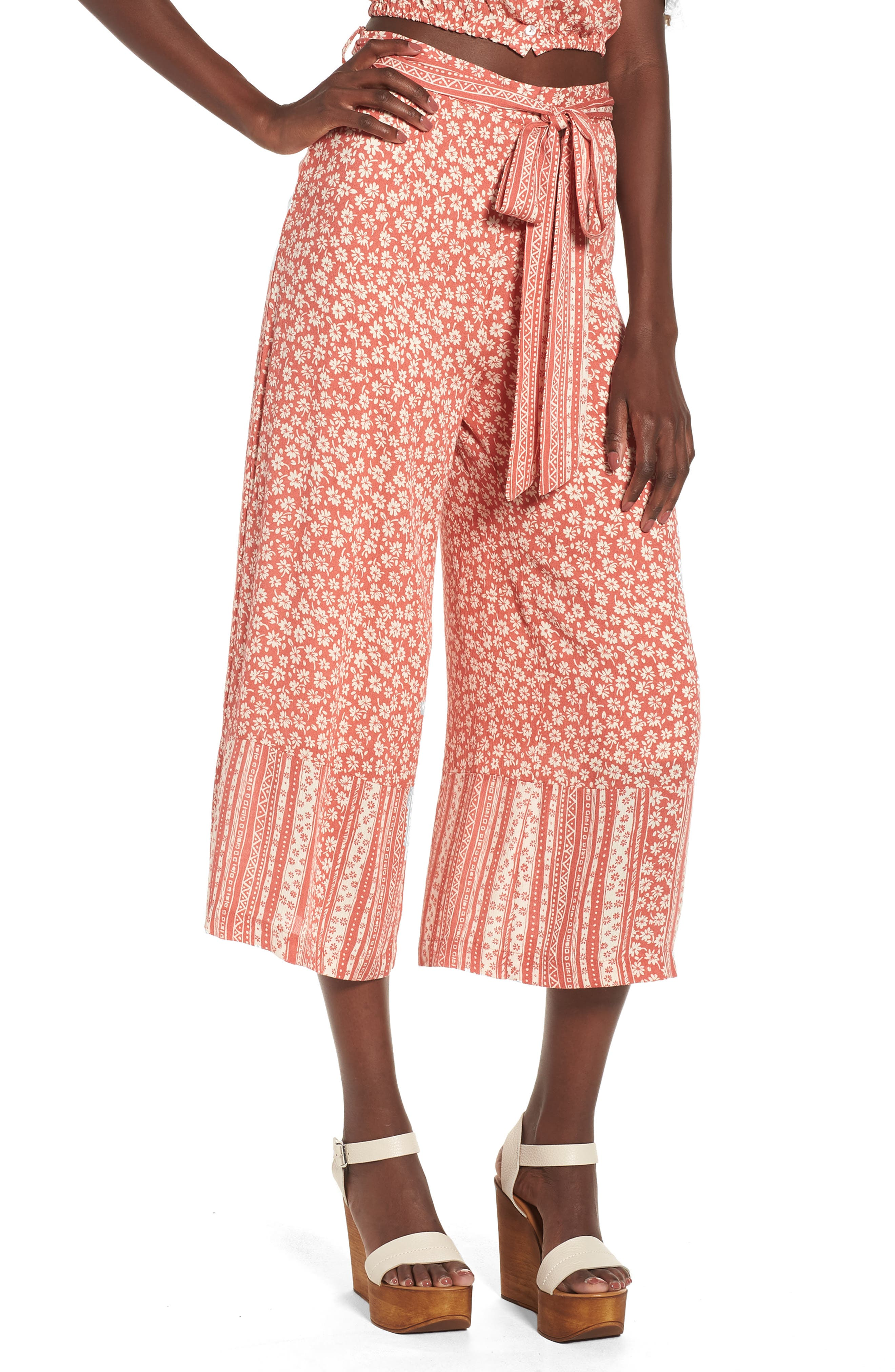 Lost + Wander Sun's Out Tie Waist Culottes