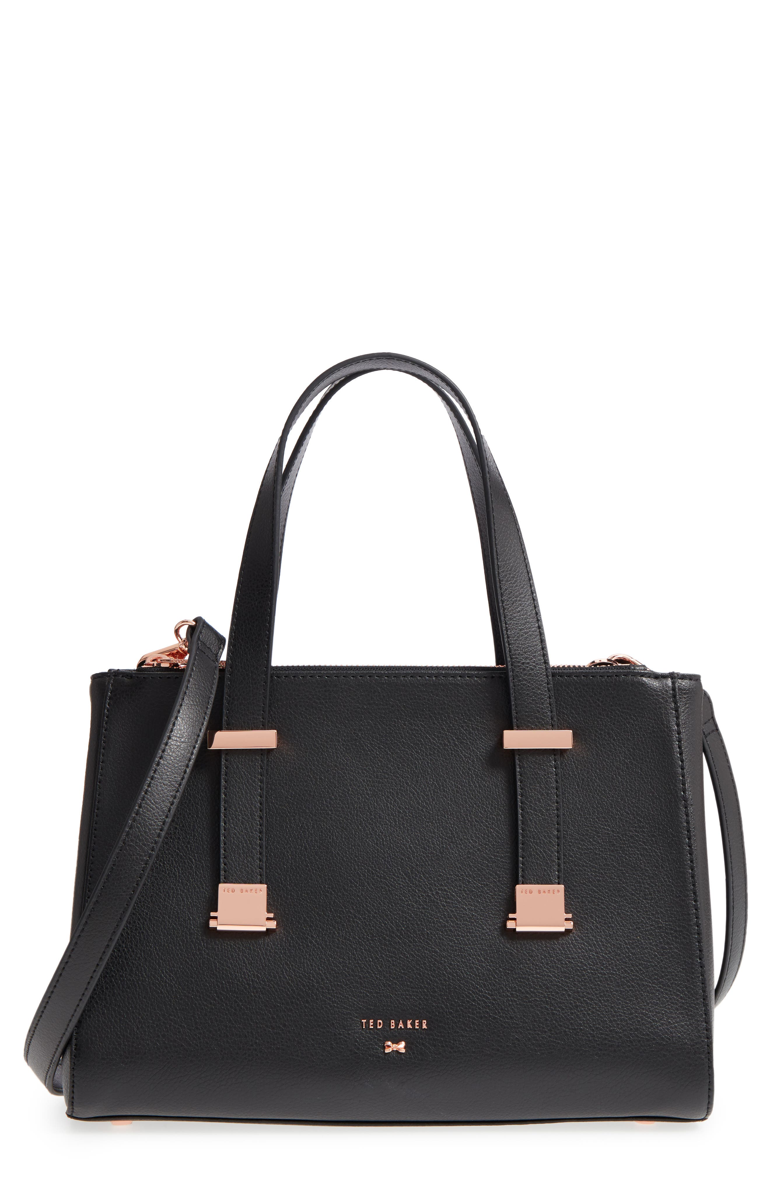 Main Image - Ted Baker London Audreyy Small Adjustable Handle Leather Shopper