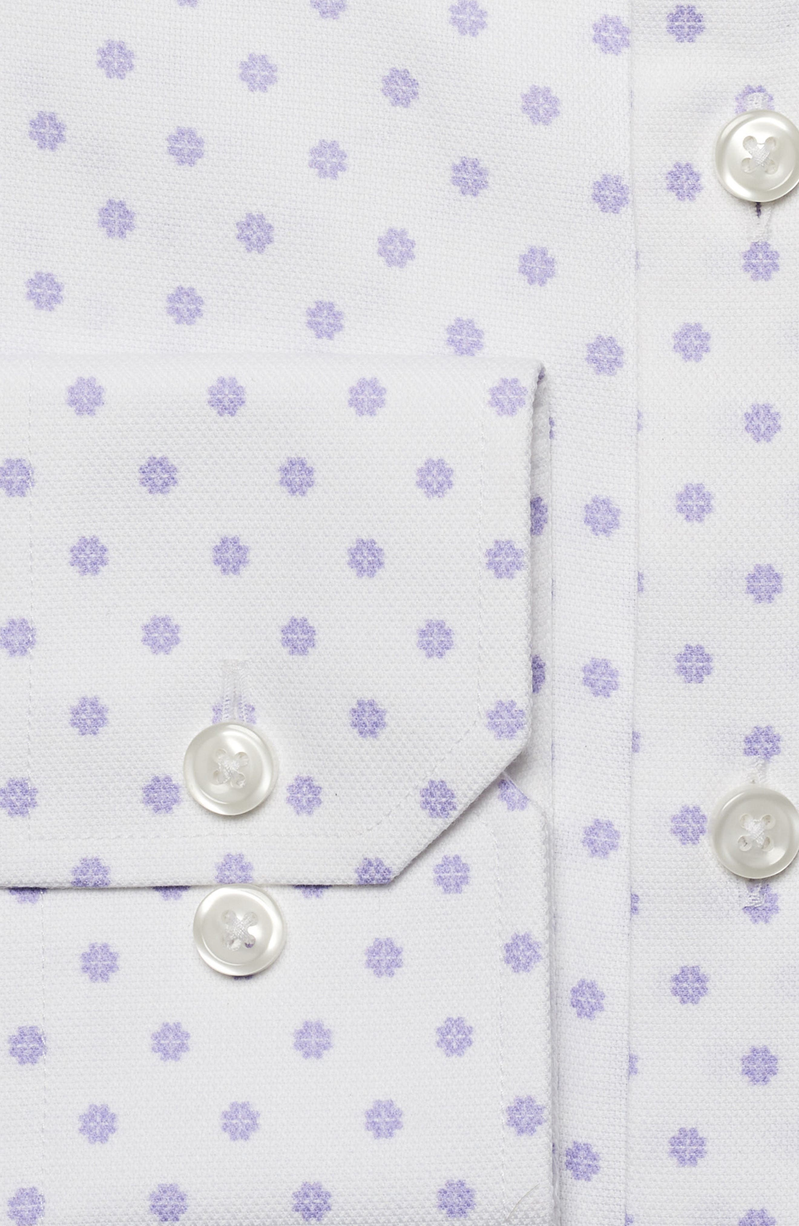 by Ilaria Urbinati Edmond Slim Fit Medallion Dress Shirt,                             Alternate thumbnail 3, color,                             Lilac Deco