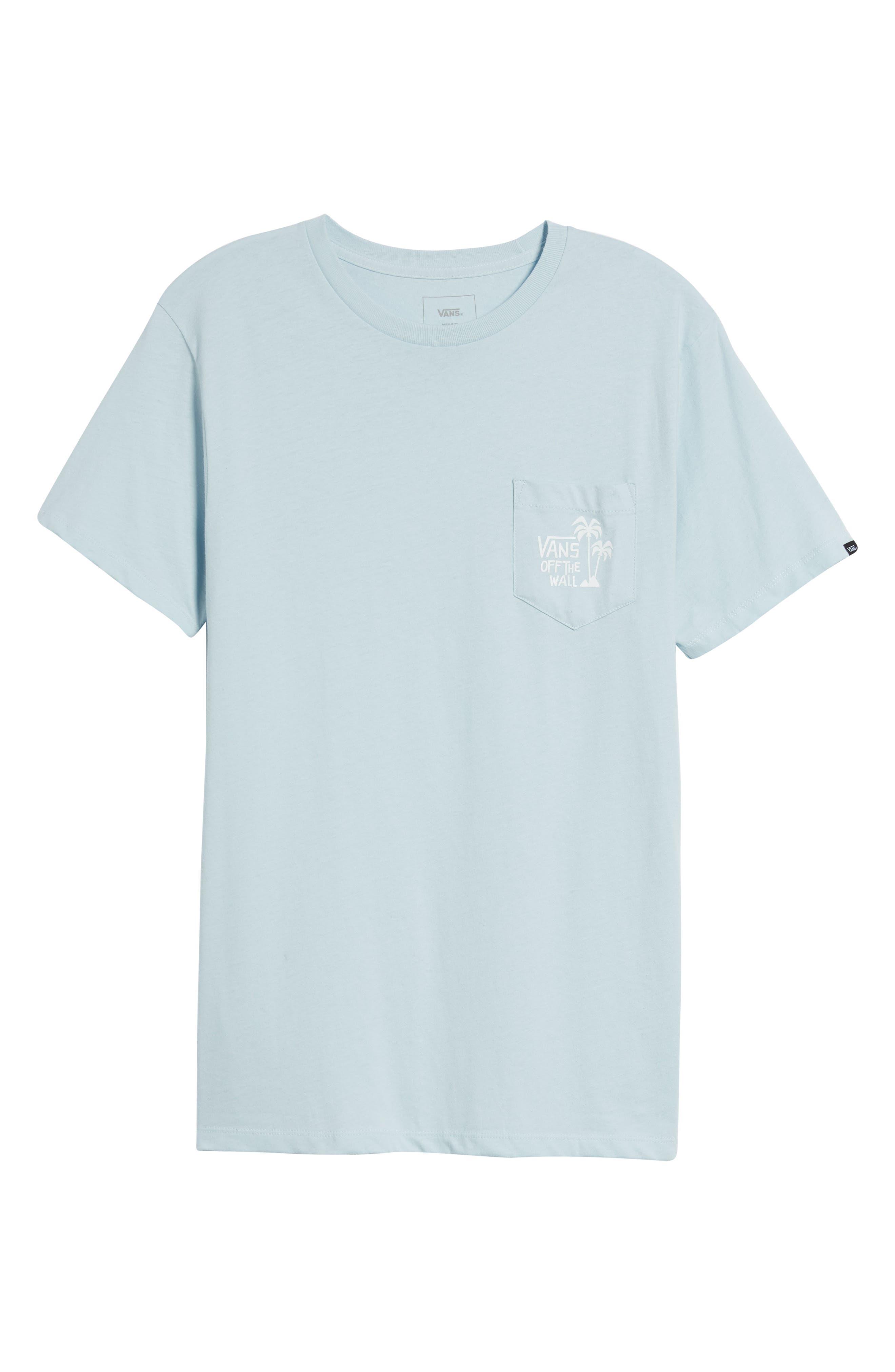 Yusuke Palms Graphic T-Shirt,                             Alternate thumbnail 6, color,                             Baby Blue