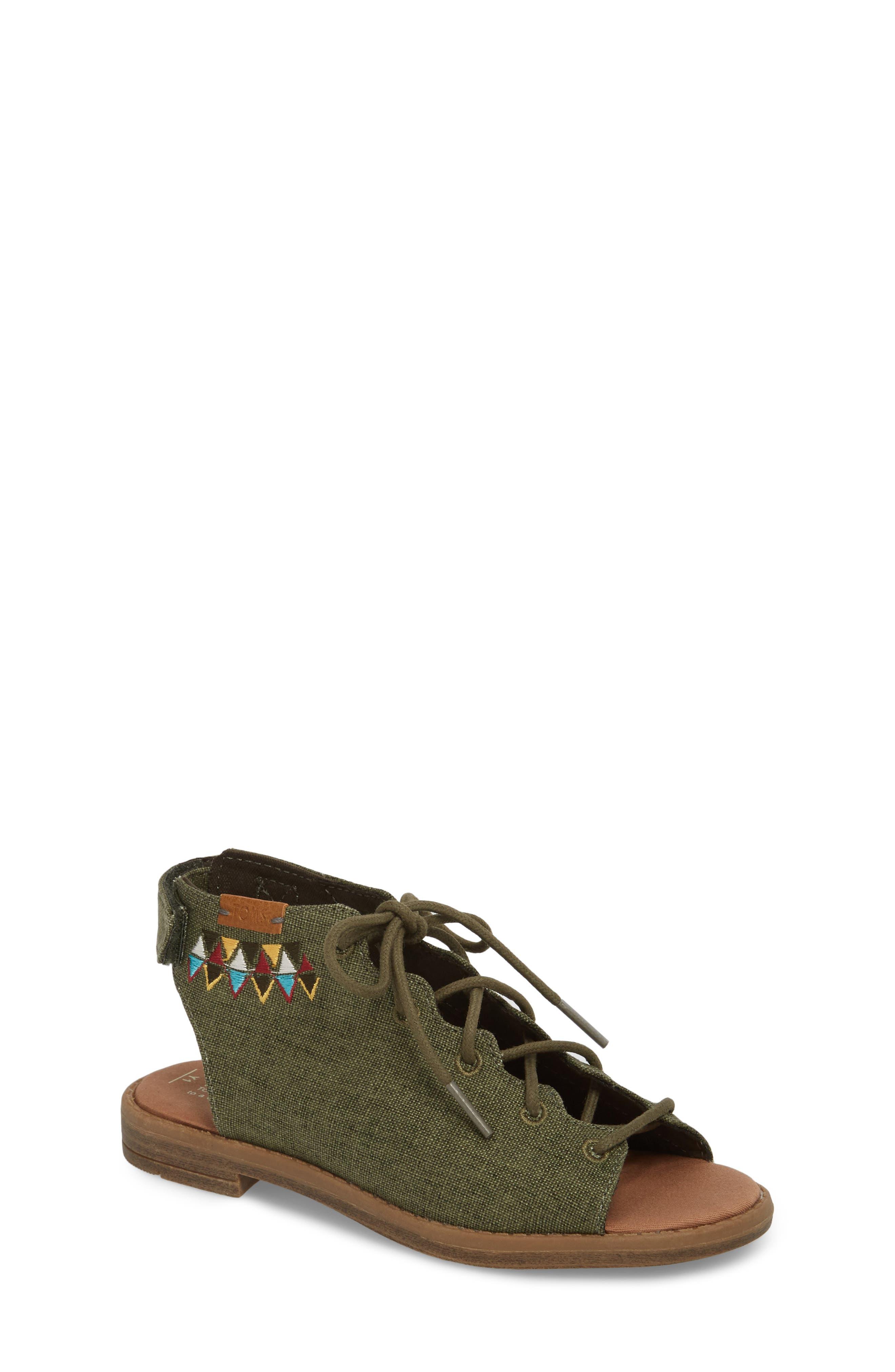 Uma Sandal,                             Main thumbnail 1, color,                             Cypress Coated Linen