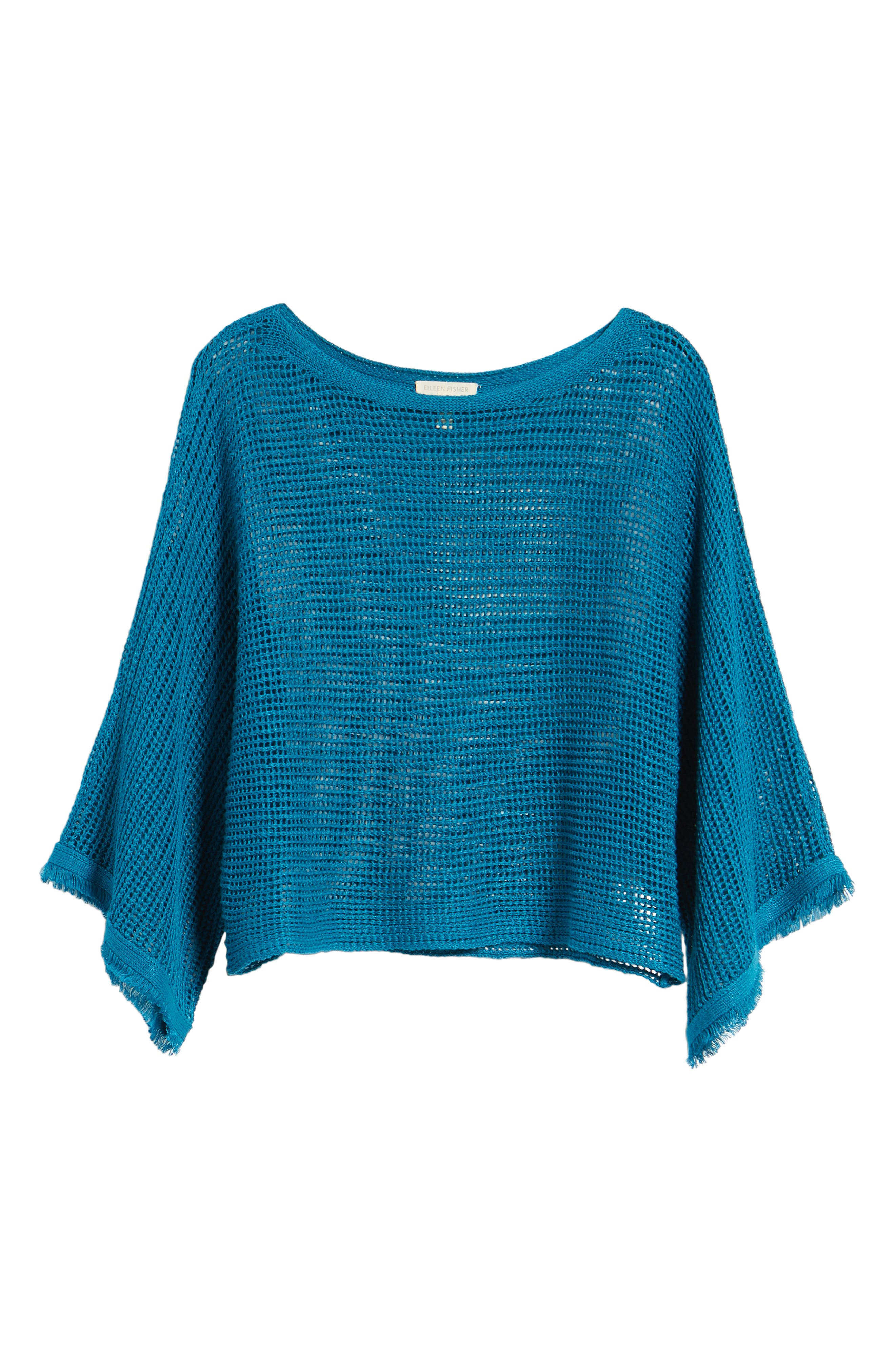 Organic Linen Short Sweater,                             Alternate thumbnail 7, color,                             Jewel