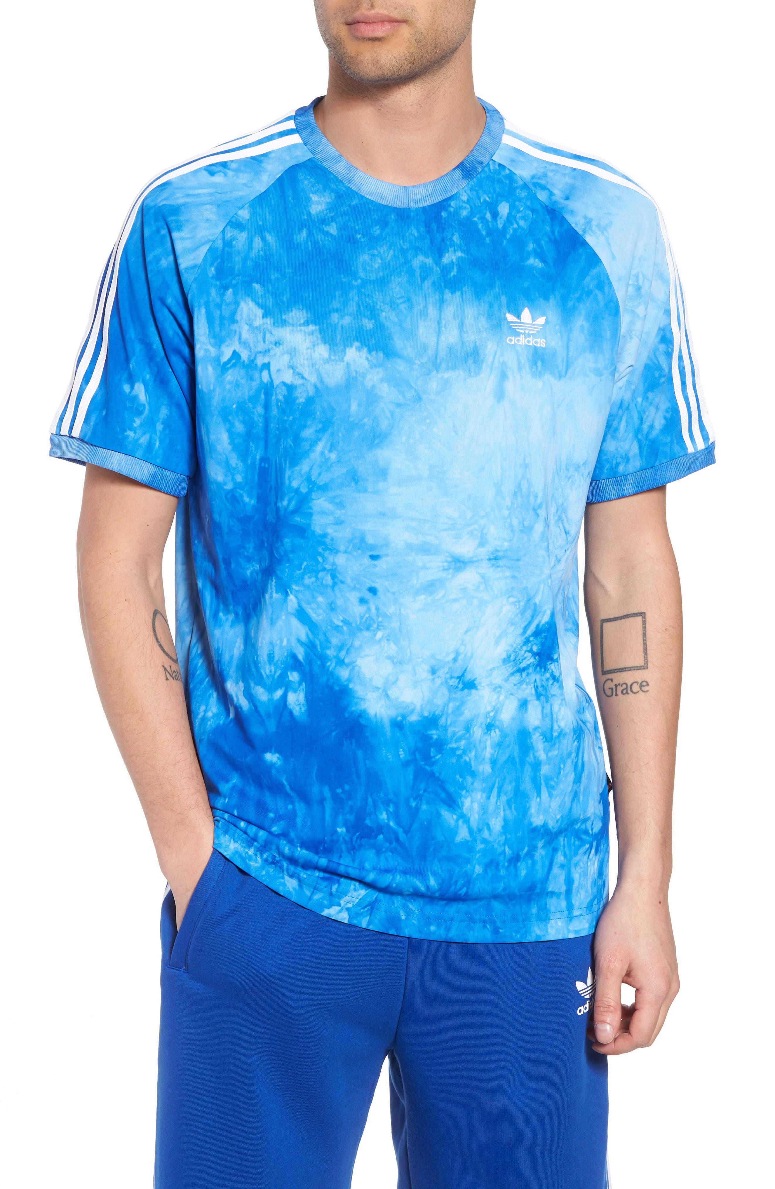 adidas Hu Holi Jersey T-Shirt,                             Main thumbnail 1, color,                             Blue