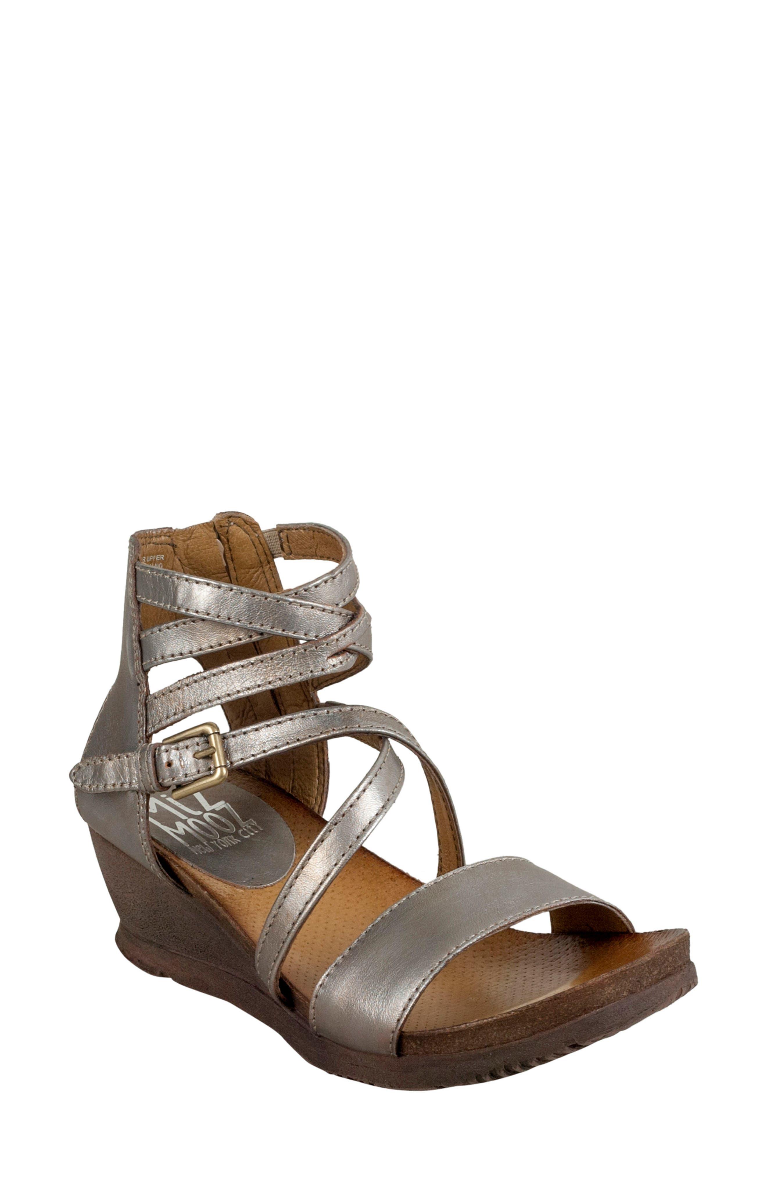 Miz Mooz 'Shay' Wedge Sandal (Women)