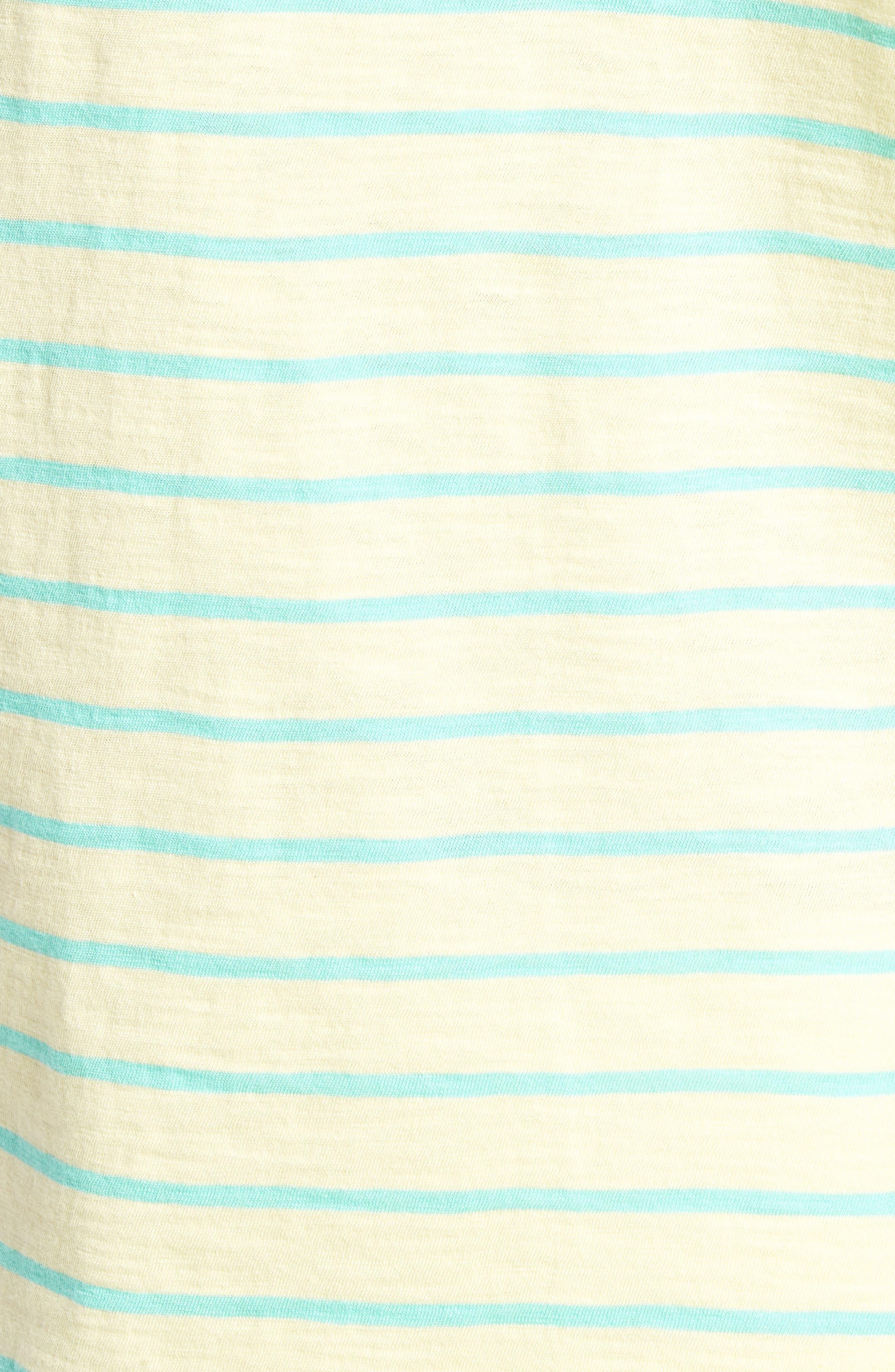 Stripe T-Shirt,                             Alternate thumbnail 5, color,                             Cactus Stripe