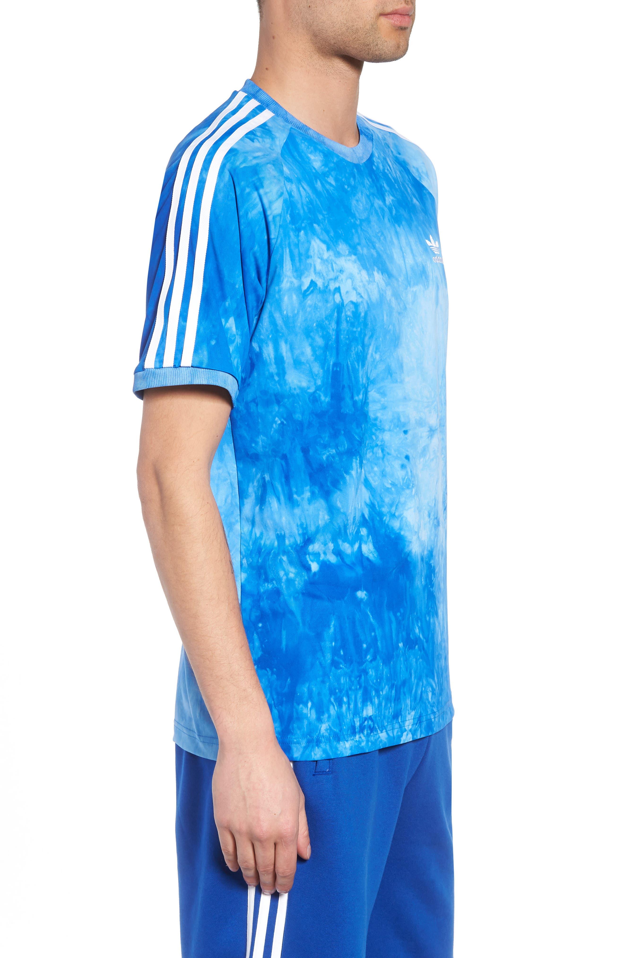 adidas Hu Holi Jersey T-Shirt,                             Alternate thumbnail 3, color,                             Blue