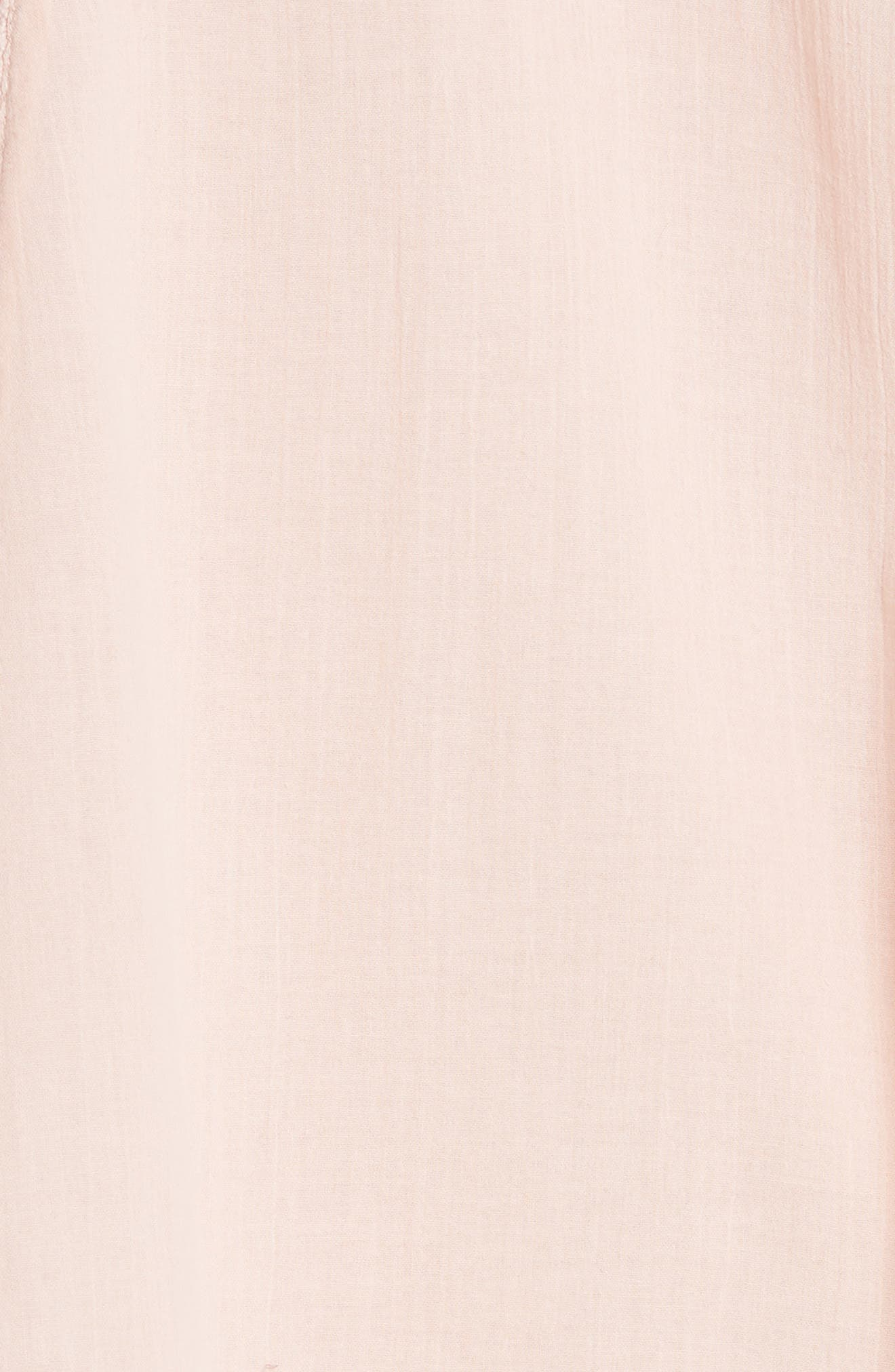 'Perfectly Victorian' Minidress,                             Alternate thumbnail 6, color,                             Pink
