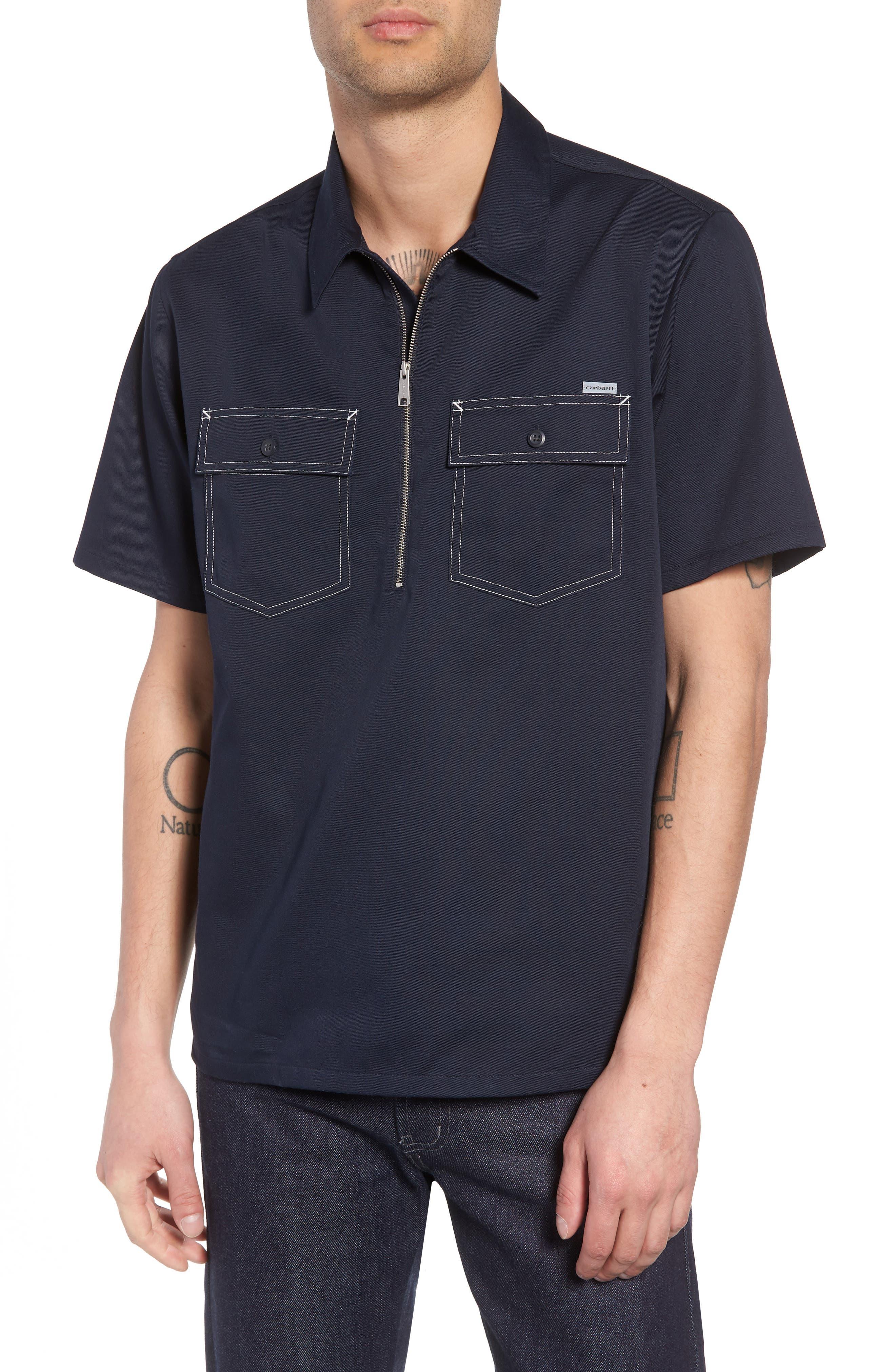 Medford Woven Shirt,                         Main,                         color, Dark Navy