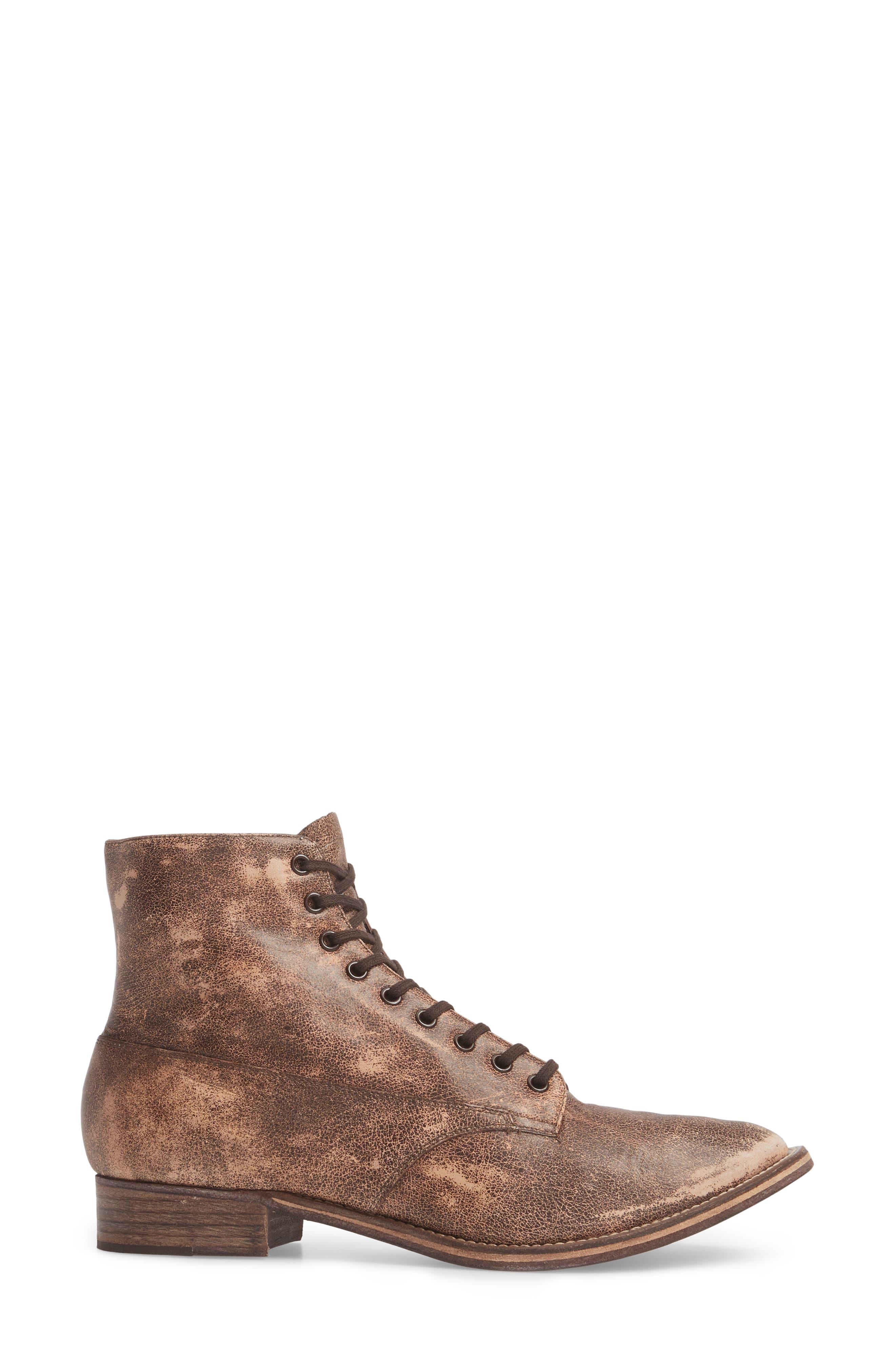 Boxcar Lace-Up Boot,                             Alternate thumbnail 3, color,                             Cordovan