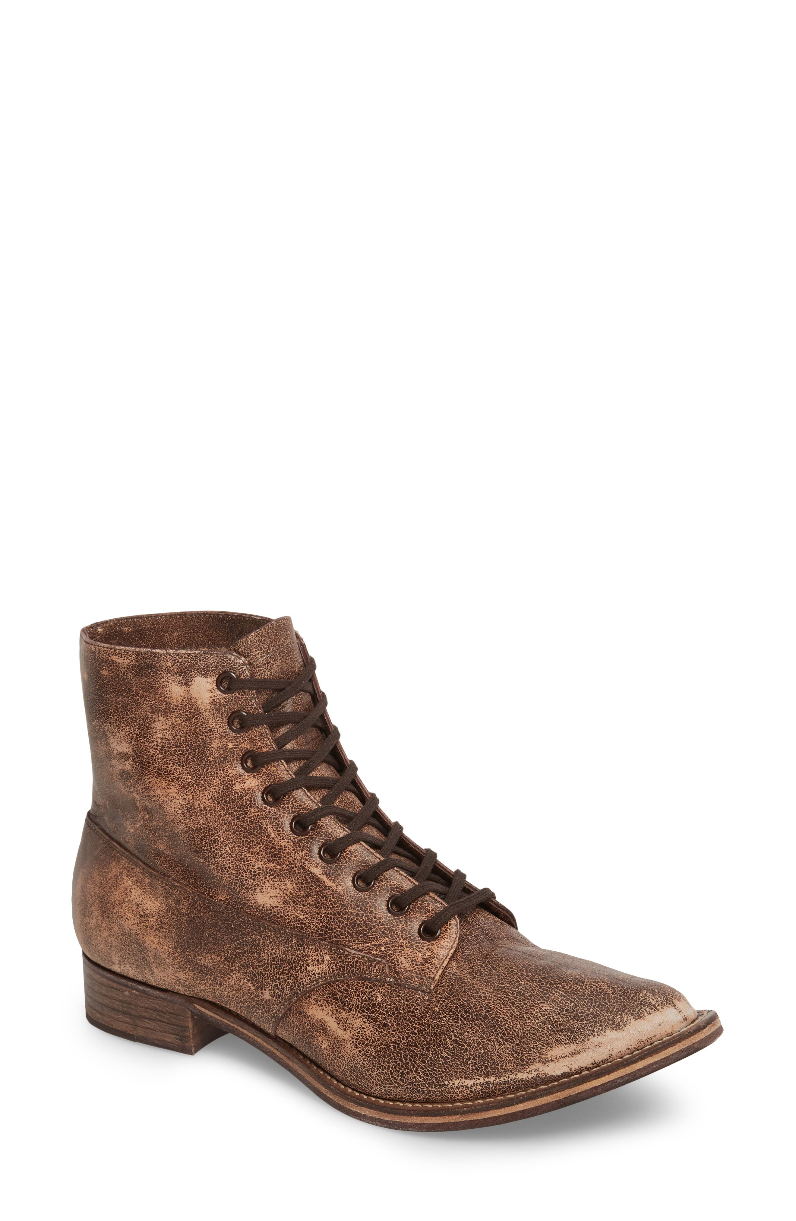 THE GREAT. Boxcar Lace-Up Boot (Women)