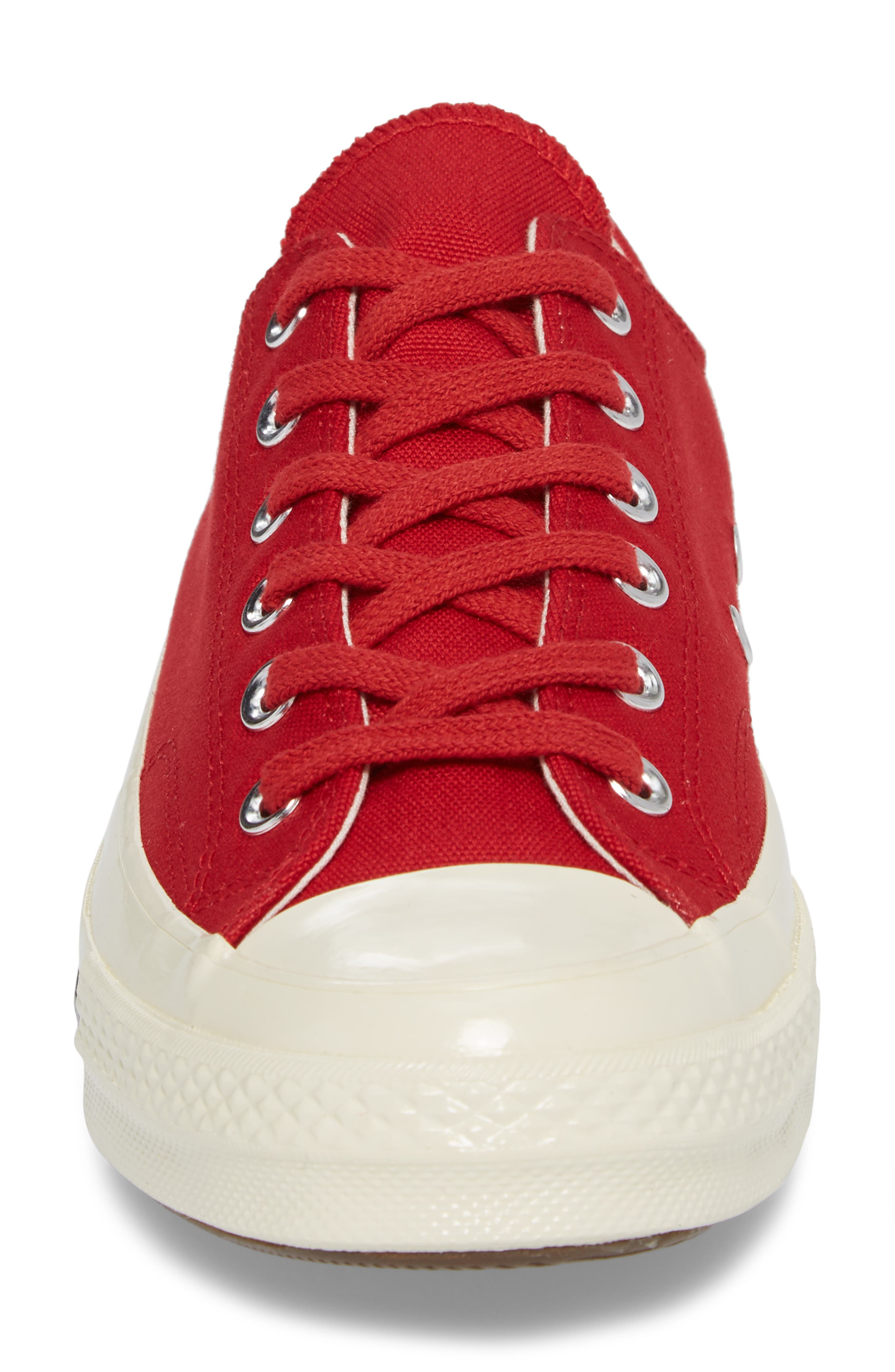 Chuck Taylor<sup>®</sup> All Star<sup>®</sup> '70s Heritage Low Top Sneaker,                             Alternate thumbnail 4, color,                             Gym Red
