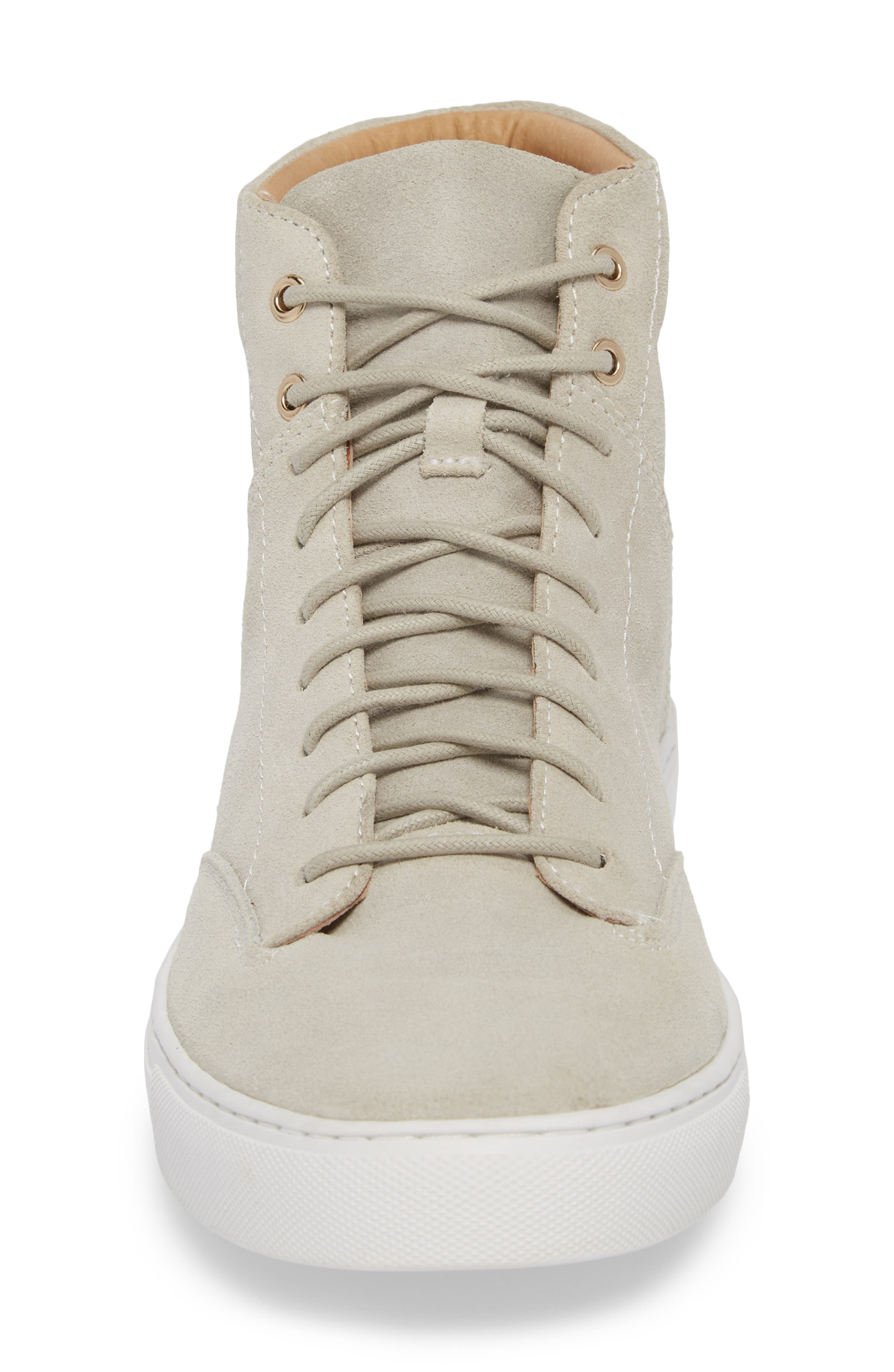 'Porter' High Top Sneaker,                             Alternate thumbnail 4, color,                             Quartz Leather