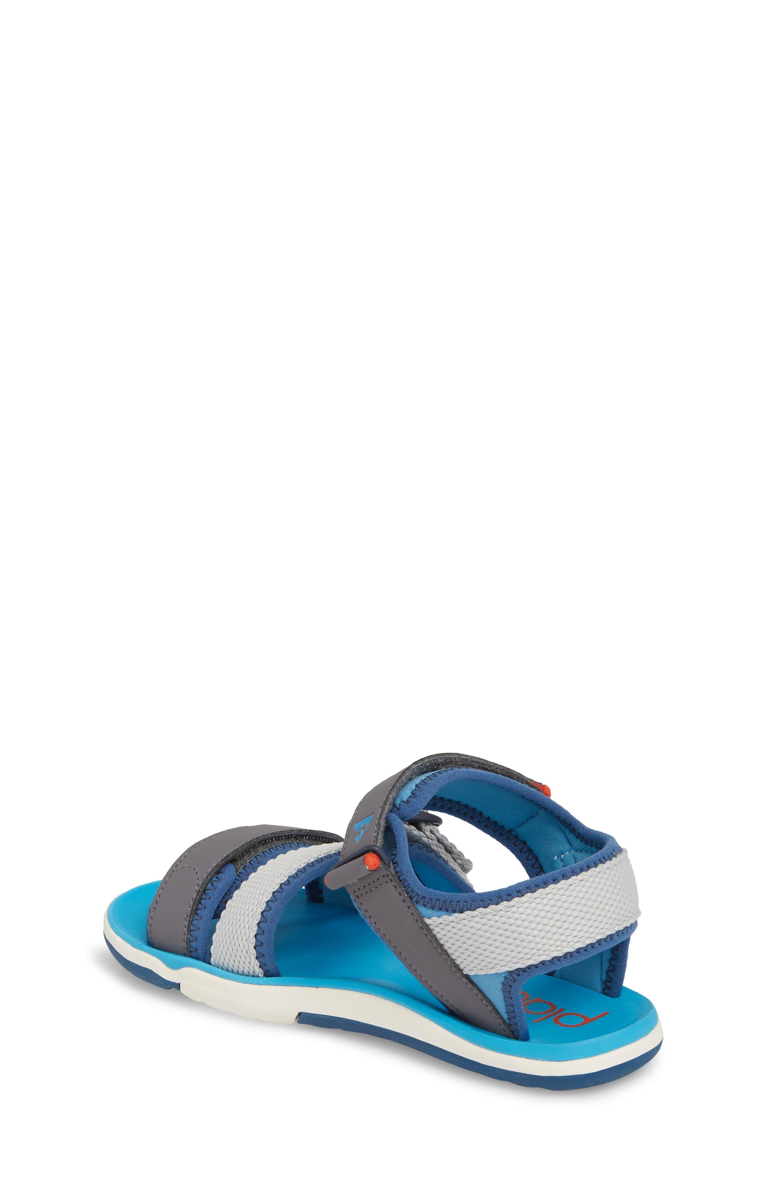 Wes Customizable Sandal,                             Alternate thumbnail 3, color,                             Aloha Blue