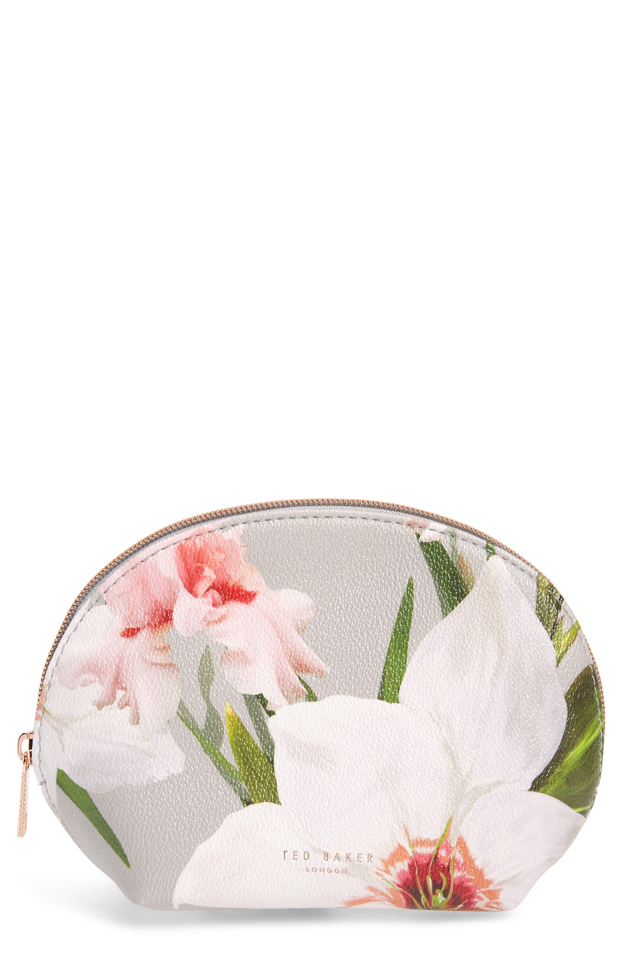 654db9501 Ted Baker Margita Chatsworth Bloom Cosmetic Bag In Mid Grey ...