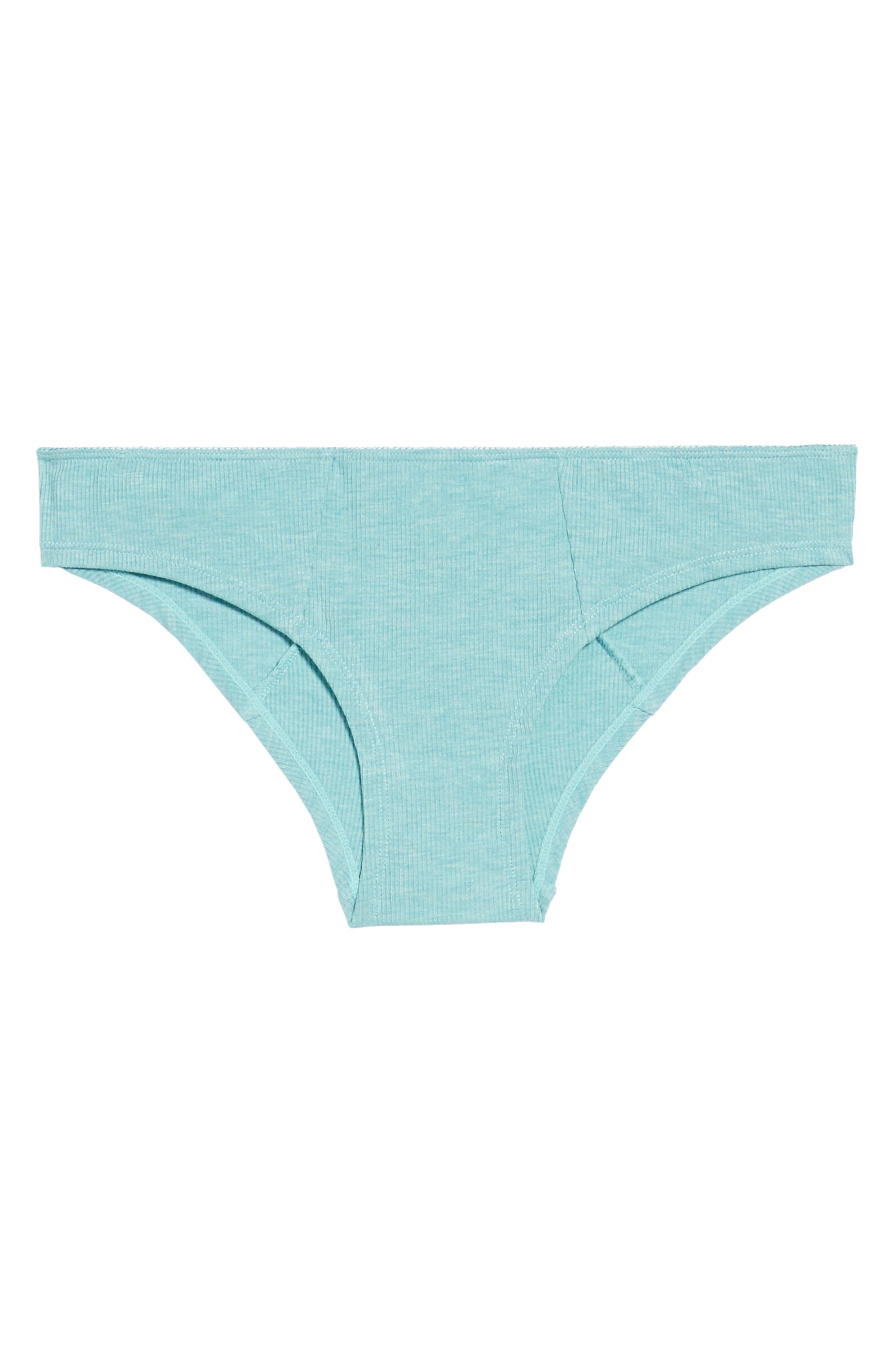 Rib Knit Bikini,                             Alternate thumbnail 6, color,                             Prickly Pear