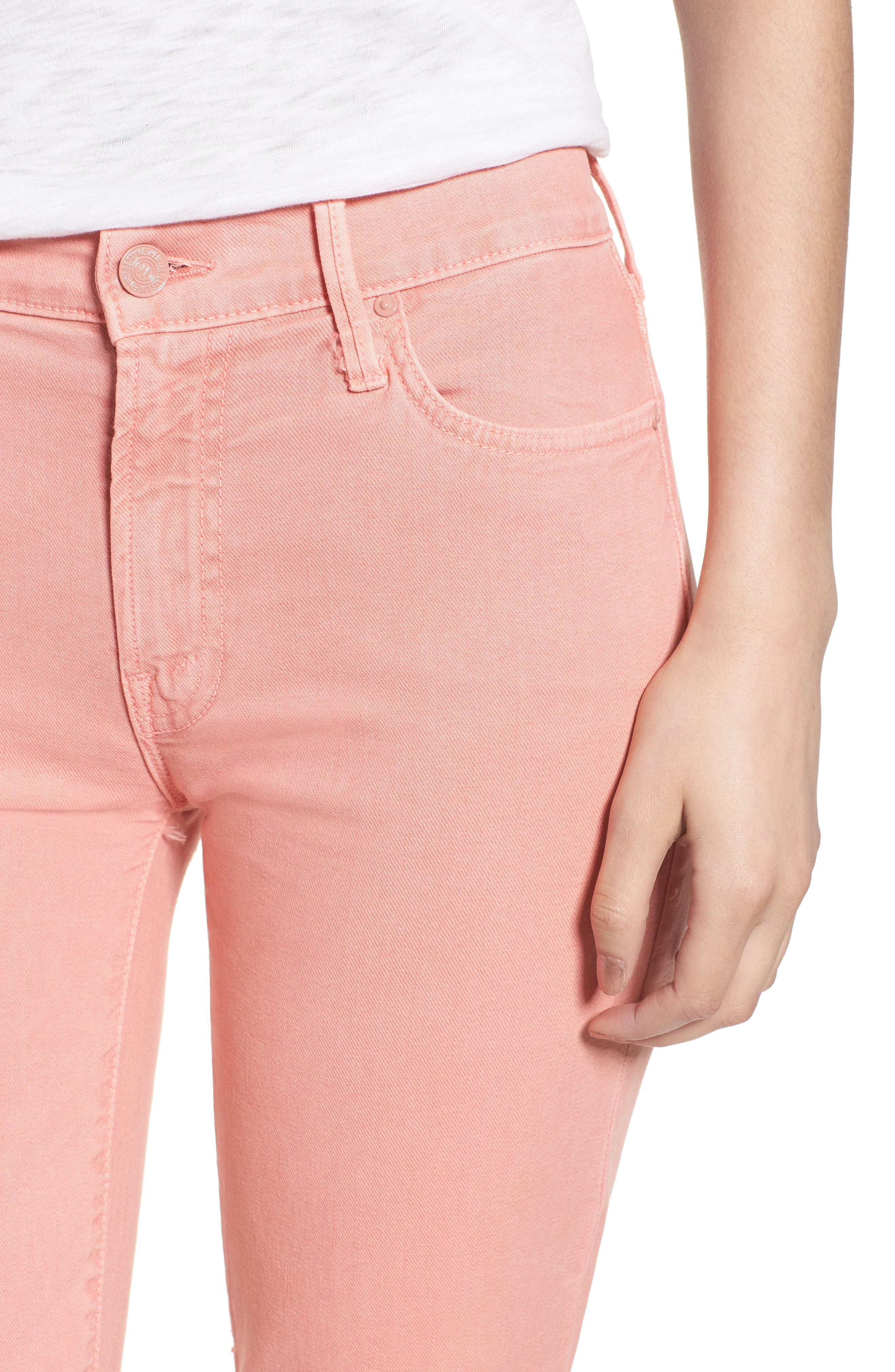 The Rascal Ankle Snippet Jeans,                             Alternate thumbnail 3, color,                             Dusty Pink