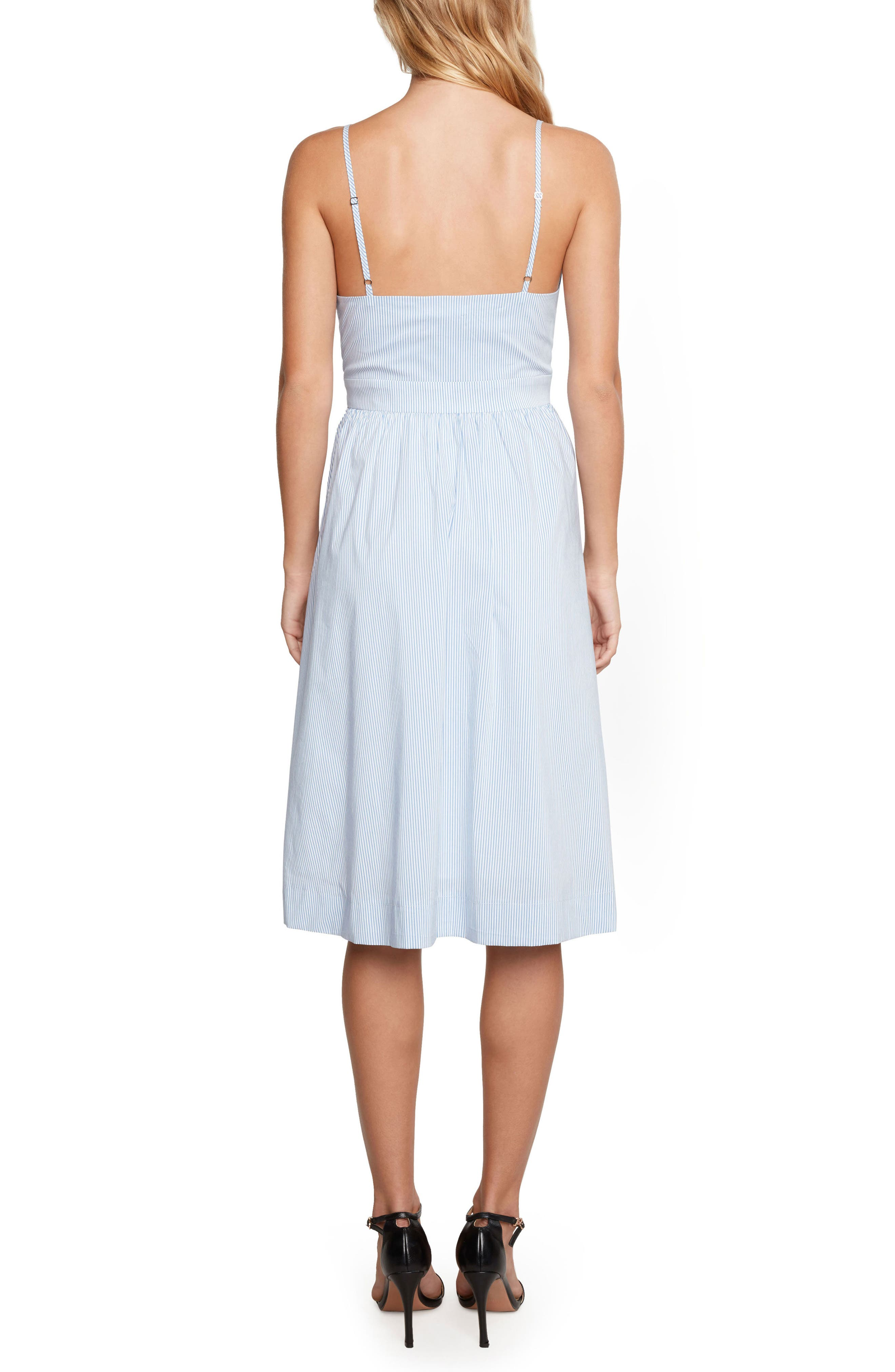 Brenda Tie Front Dress,                             Alternate thumbnail 2, color,                             Chambray