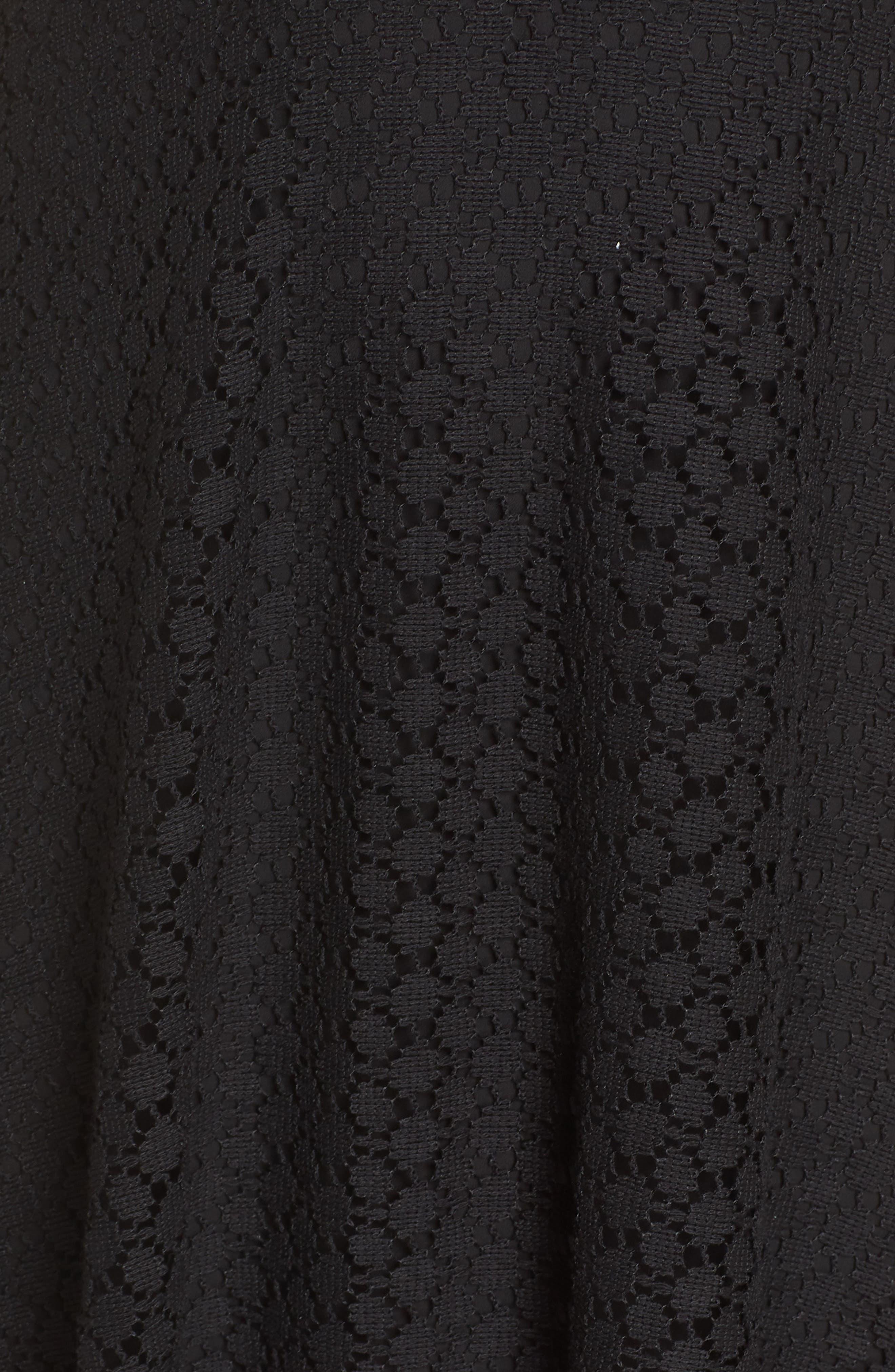 Lace Halter Dress,                             Alternate thumbnail 6, color,                             Black