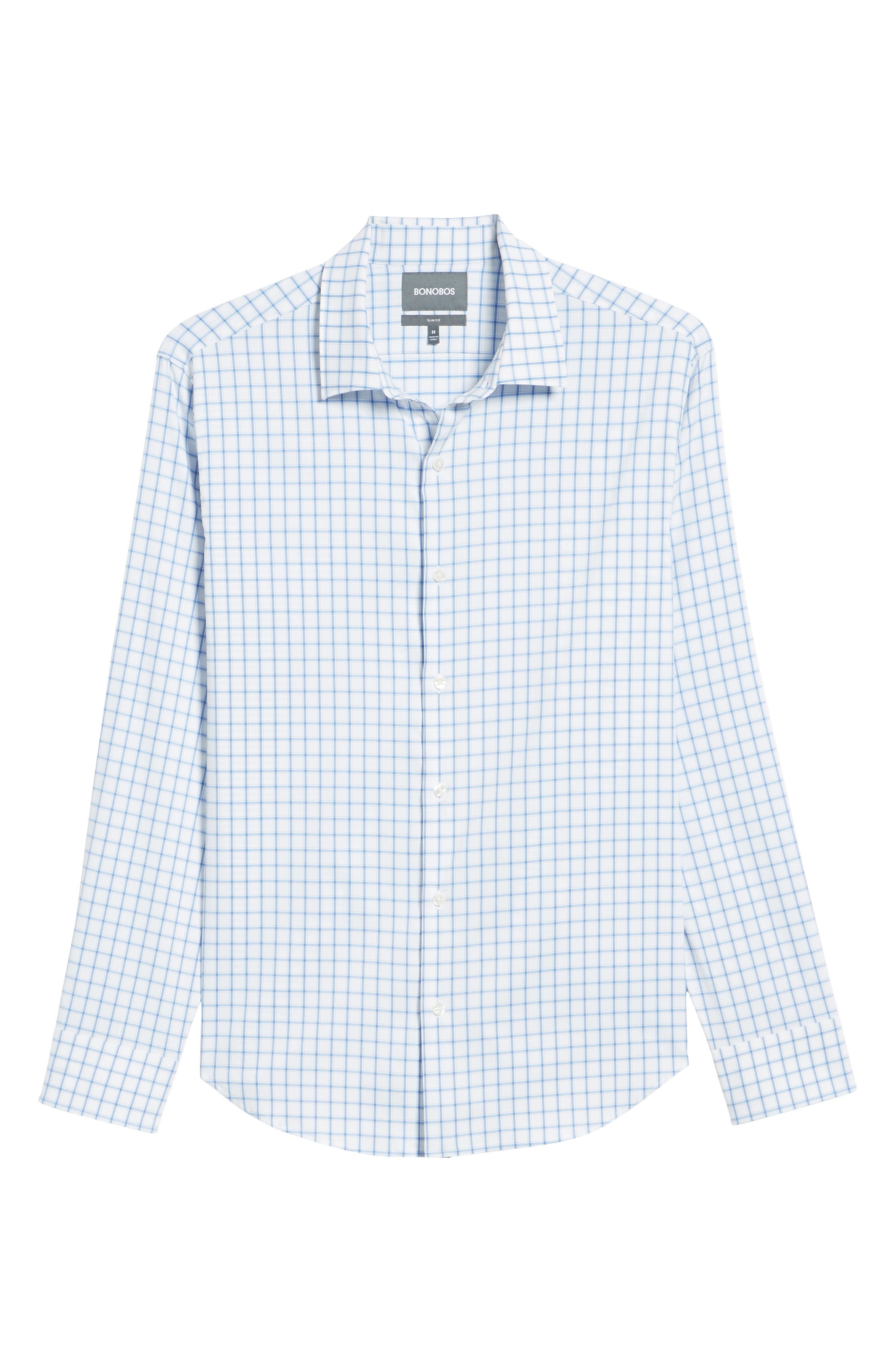 Slim Fit Check Performance Sport Shirt,                             Alternate thumbnail 6, color,                             Bray Oxford - Peony Coral