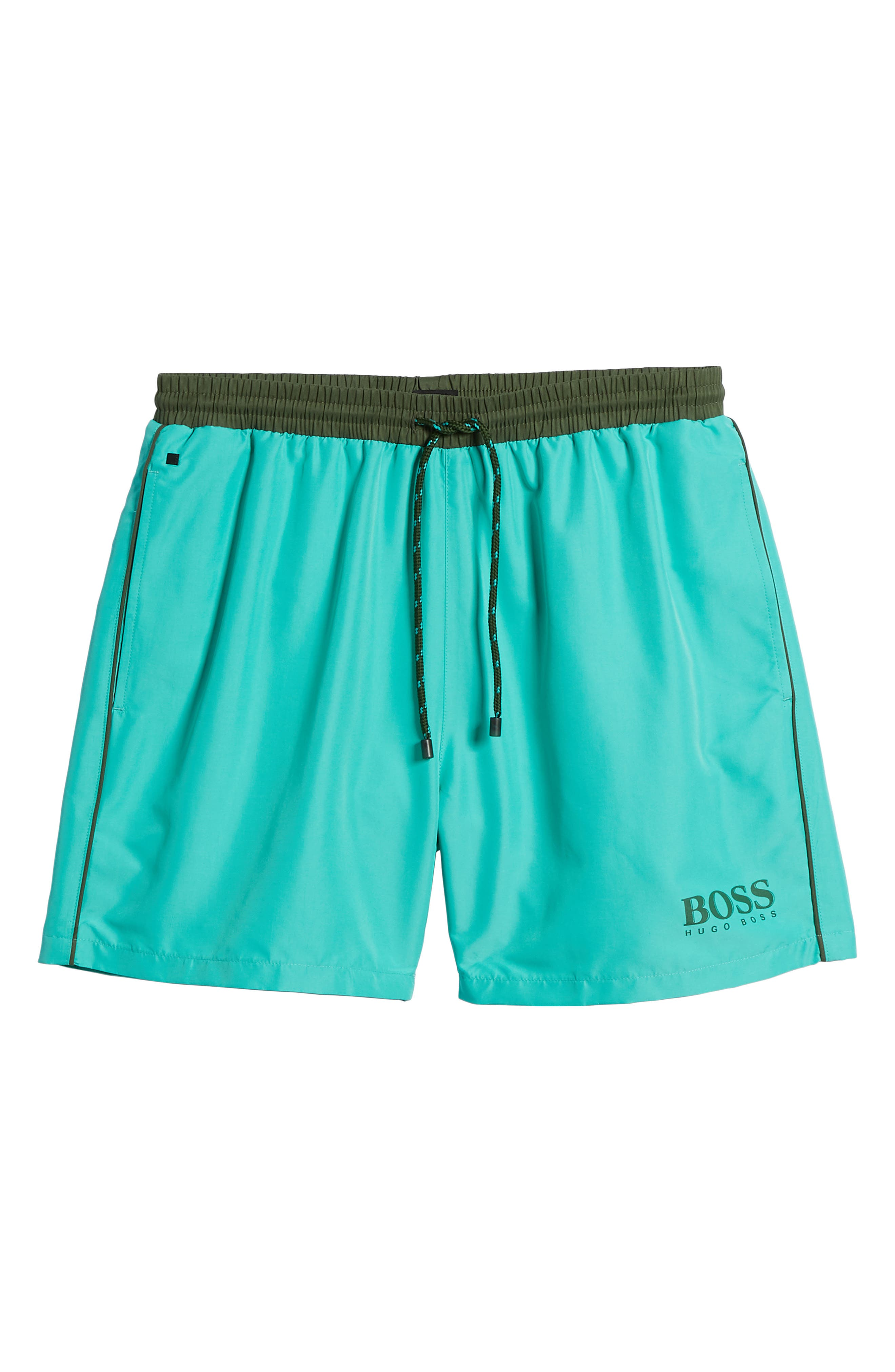 Starfish Swim Trunks,                             Alternate thumbnail 6, color,                             Green